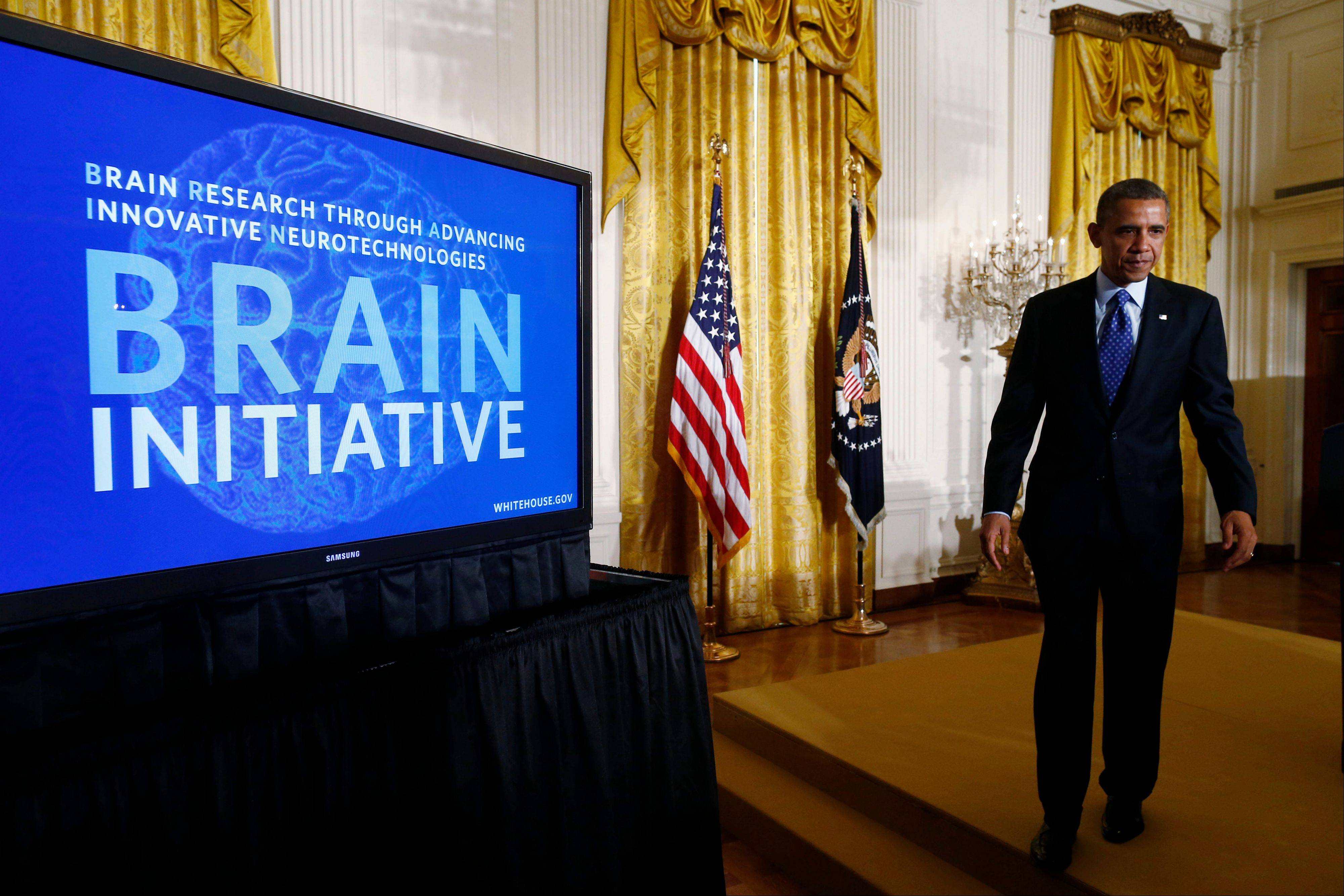 President Barack Obama on Tuesday outlined the BRAIN Initiative whose goal is to find treatments for some of the most common brain disorders, led by Alzheimer's, epilepsy and brain injuries.