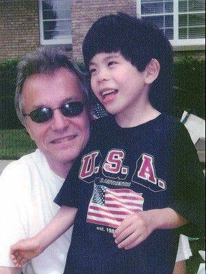 Mark Hellner with his son, David.