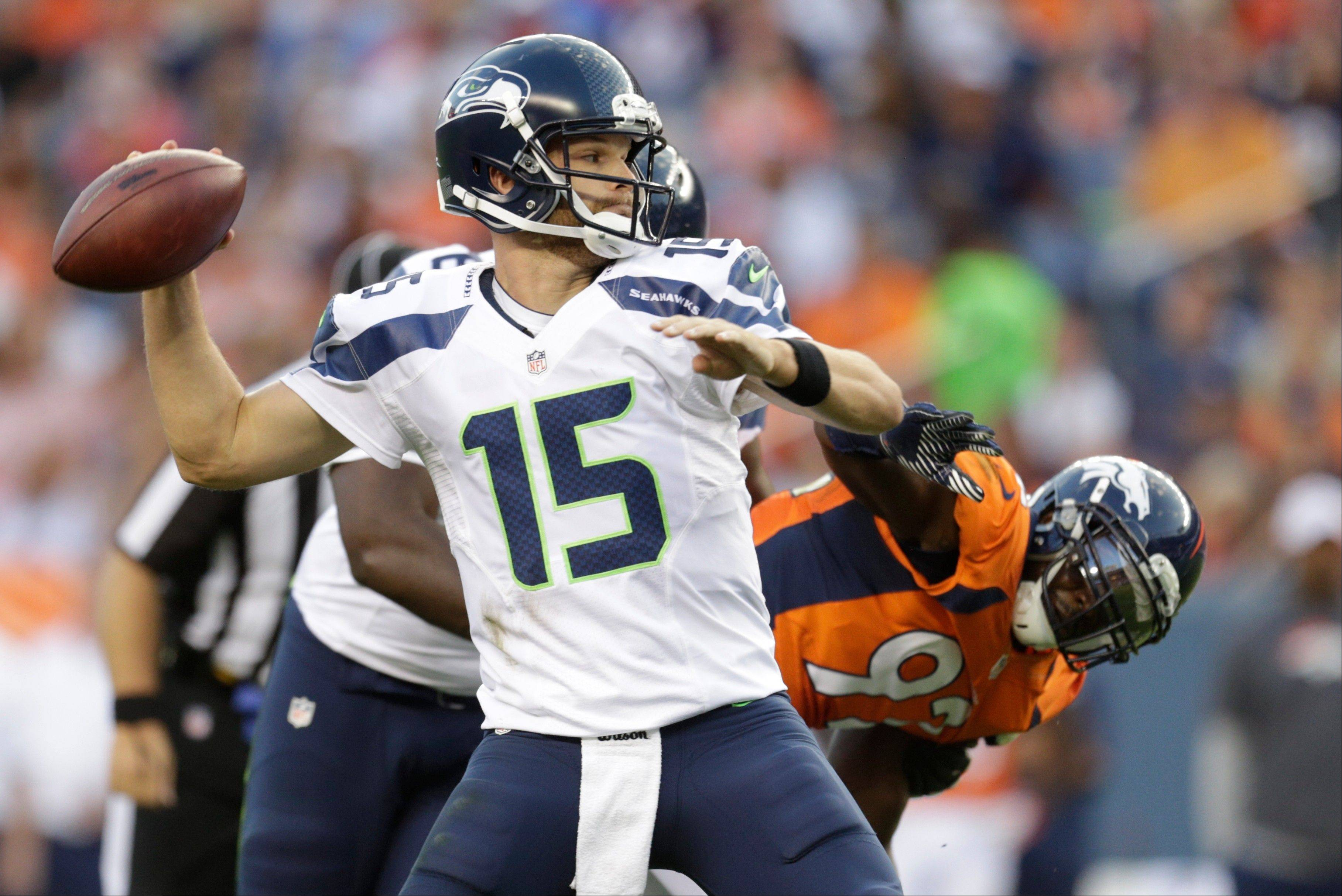 Quarterback Matt Flynn Flynn signed a three-year, $26 million deal with the Seahawks in 2012 but failed to beat out rookie Russell Wilson for the starting job. Now he's is a member of the Oakland Raiders.
