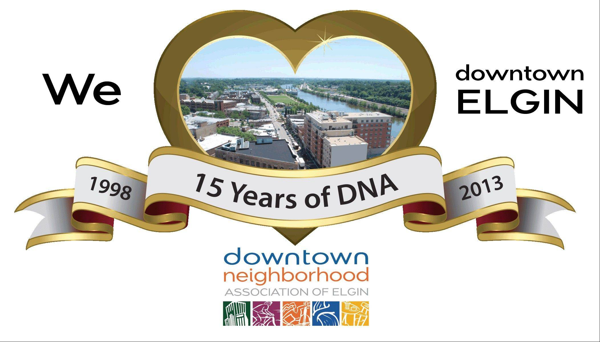 """We (Heart) Downtown Elgin"" is a new campaign the Downtown Neighborhood Association is planning to launch sometime around mid-May or early June to celebrate its 15th anniversary."