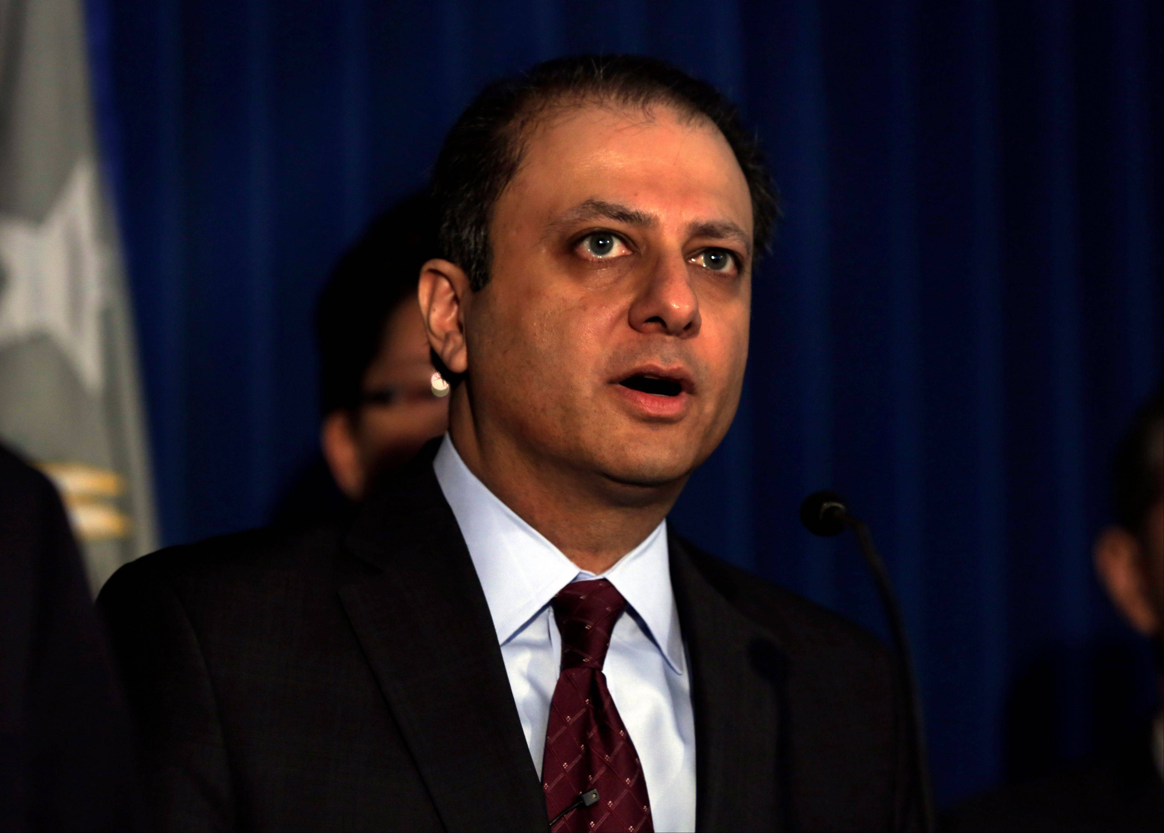 U.S. Attorney Preet Bharara said Tuesday that Malcolm Smith, who has served at times as the New York state Senate�s majority and minority leader since becoming a senator in March 2000, was arrested along with Republican New York City Councilman Dan Halloran and four other political figures. Bharara said Smith �tried to bribe his way to a shot at Gracie Mansion,� the official New York City mayor�s residence.