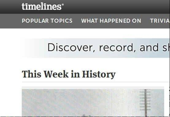 Timelines launched a website called Timelines.com in 2009, enabling users to track historical and personal events.