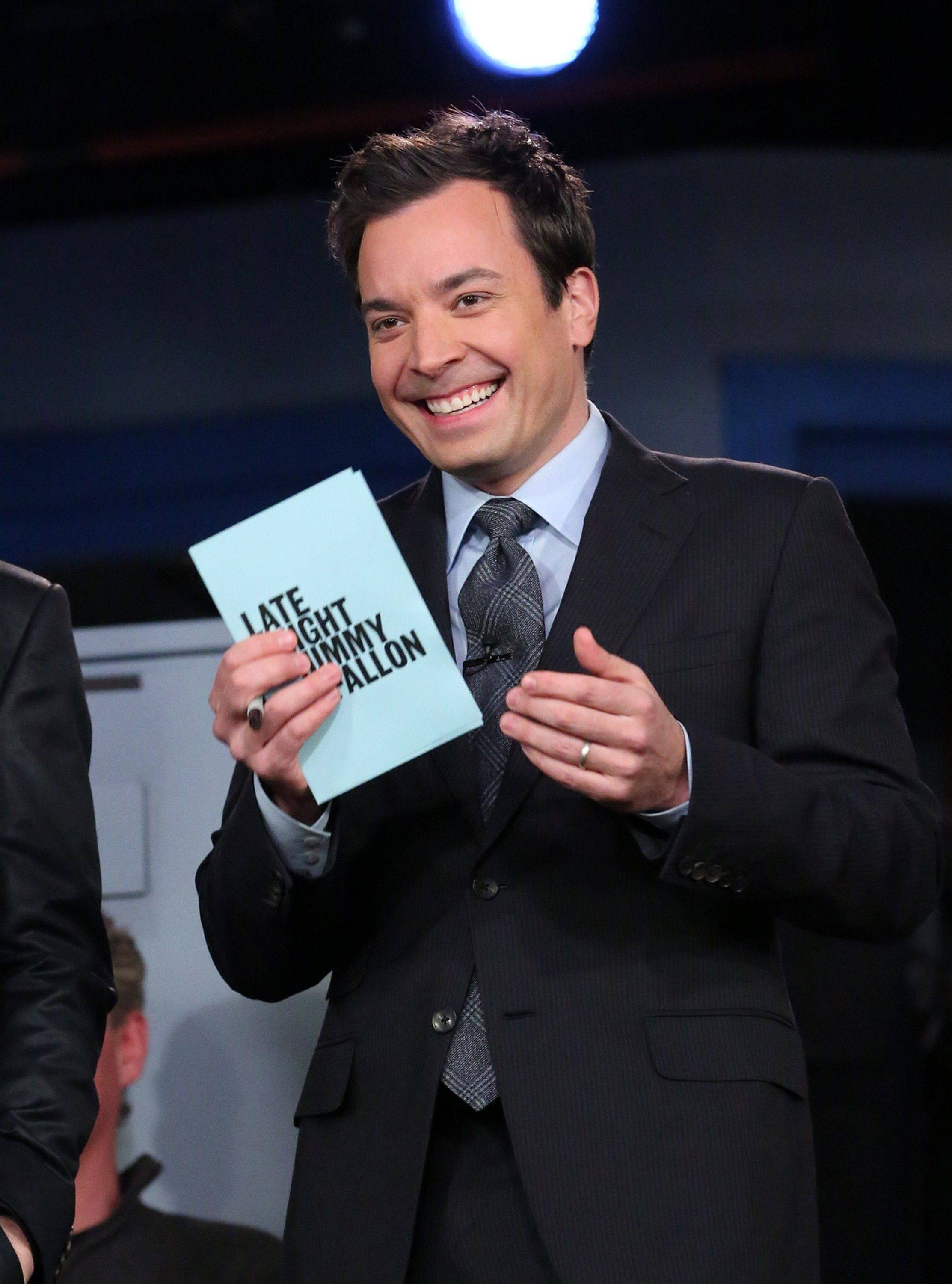 "NBC announced Wednesday, April 3, 2013 that Jimmy Fallon is replacing Jay Leno as the host of ""The Tonight Show"" in spring 2014."