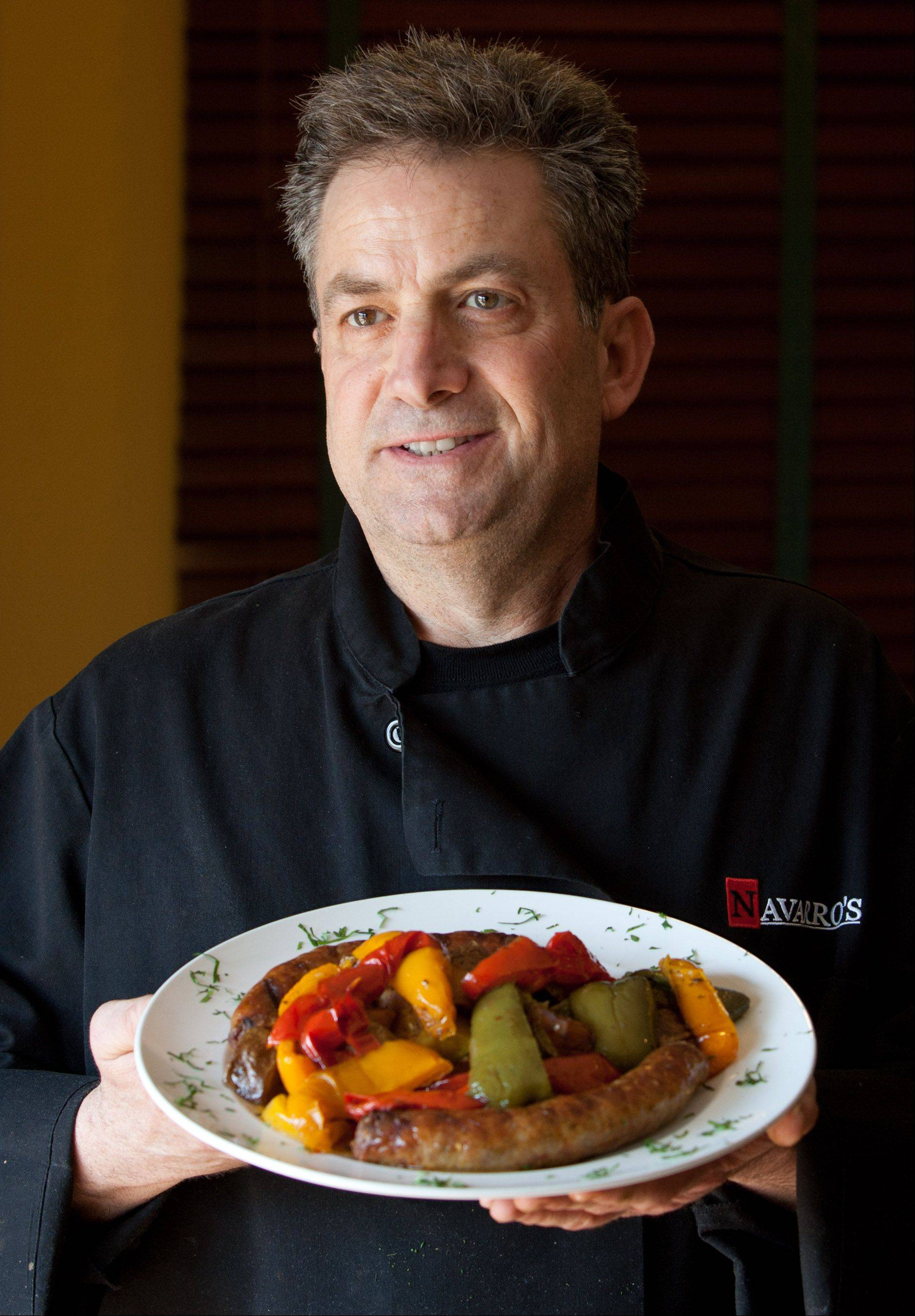 Chef Jerry Navarro runs the kitchen at Navarro's of Naperville, a casual Italian eatery tucked into the clubhouse at Country Lakes Golf Course.