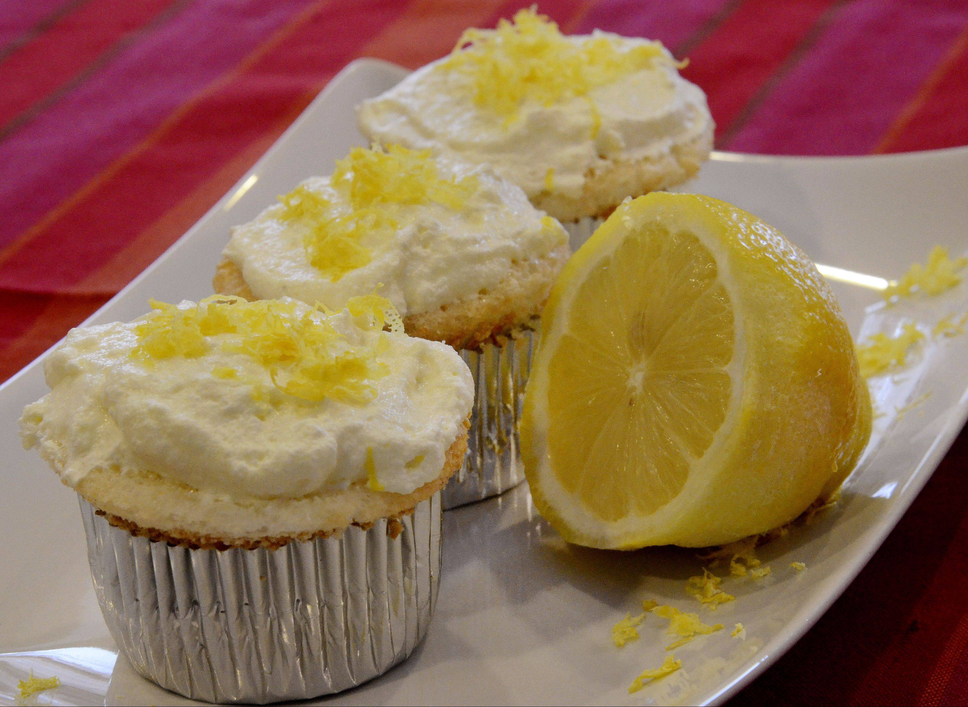 Heavenly Angel Cupcakes with Luscious Lemon Frosting will bring a bit of sunshine to rainy April days.