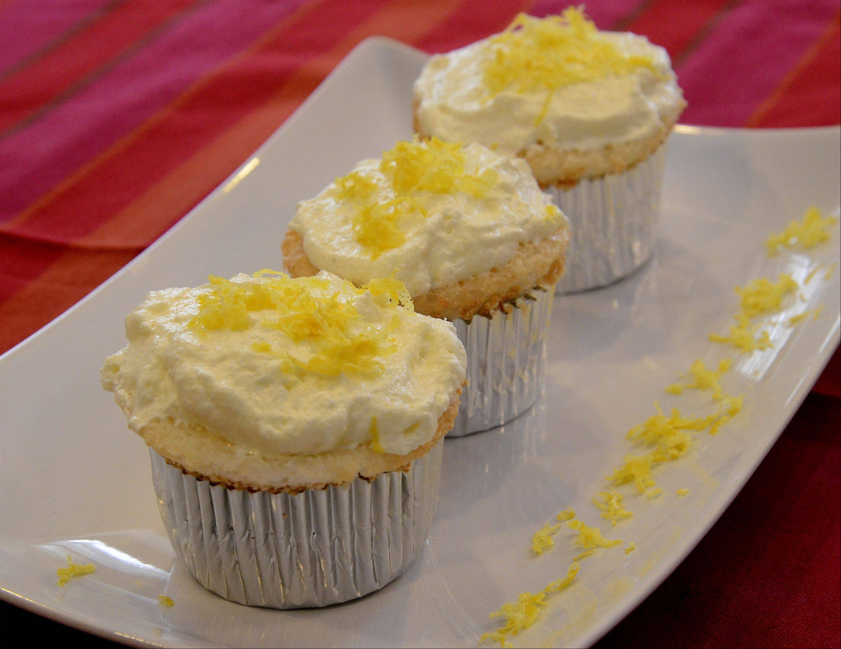 A touch of zest adds to the lemony goodness of these Heavenly Angel Cupcakes.