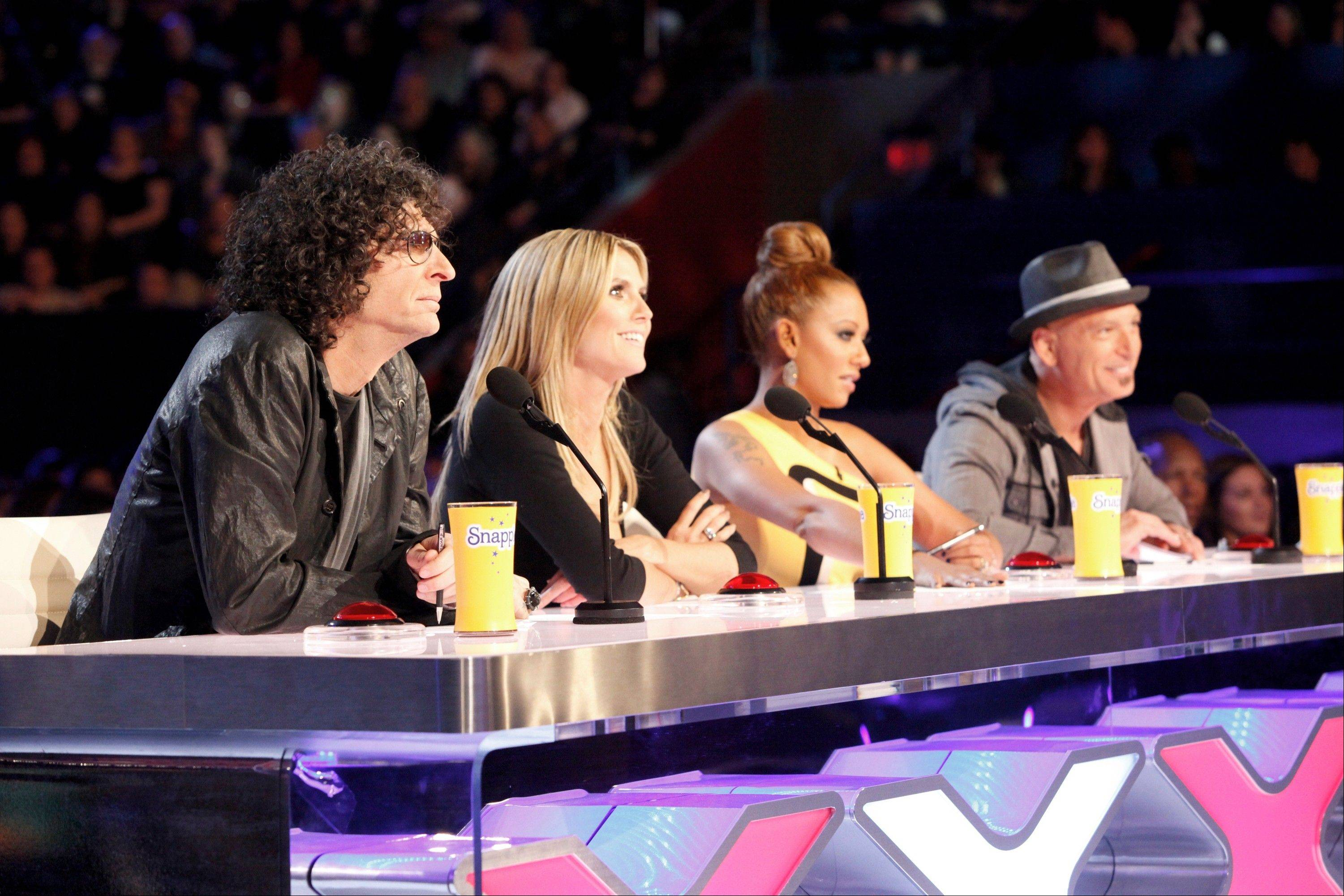 """America's Got Talent"" judges will be filming auditions in Rosemont in May. Returning judges Howard Stern, left, and Howie Mandel will be joined by Heidi Klum and Mel B."