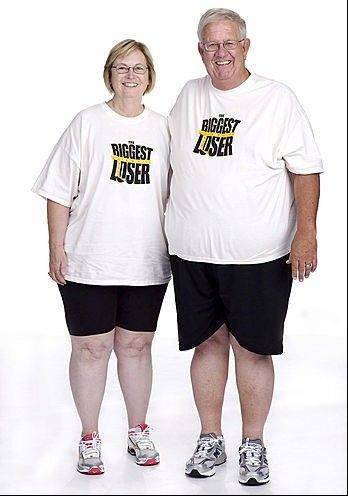"Jerry and Estella Hayes before taking part in ""The Biggest Loser."""