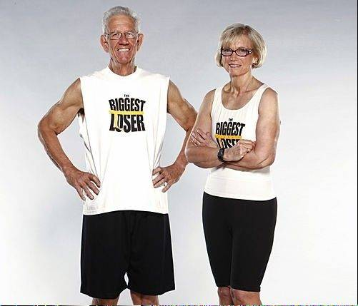 "Jerry and Estella Hayes after taking part in ""The Biggest Loser."" The couple will tell their story at 7 p.m. Friday, April 5, at the College of Lake County."