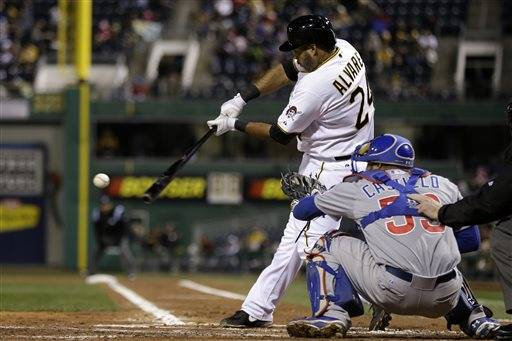 Wandy Rodriguez allowed just two hits over 6 2-3 innings and the Pittsburgh Pirates edged the Cubs 3-0 on Wednesday night for their first win of the year.