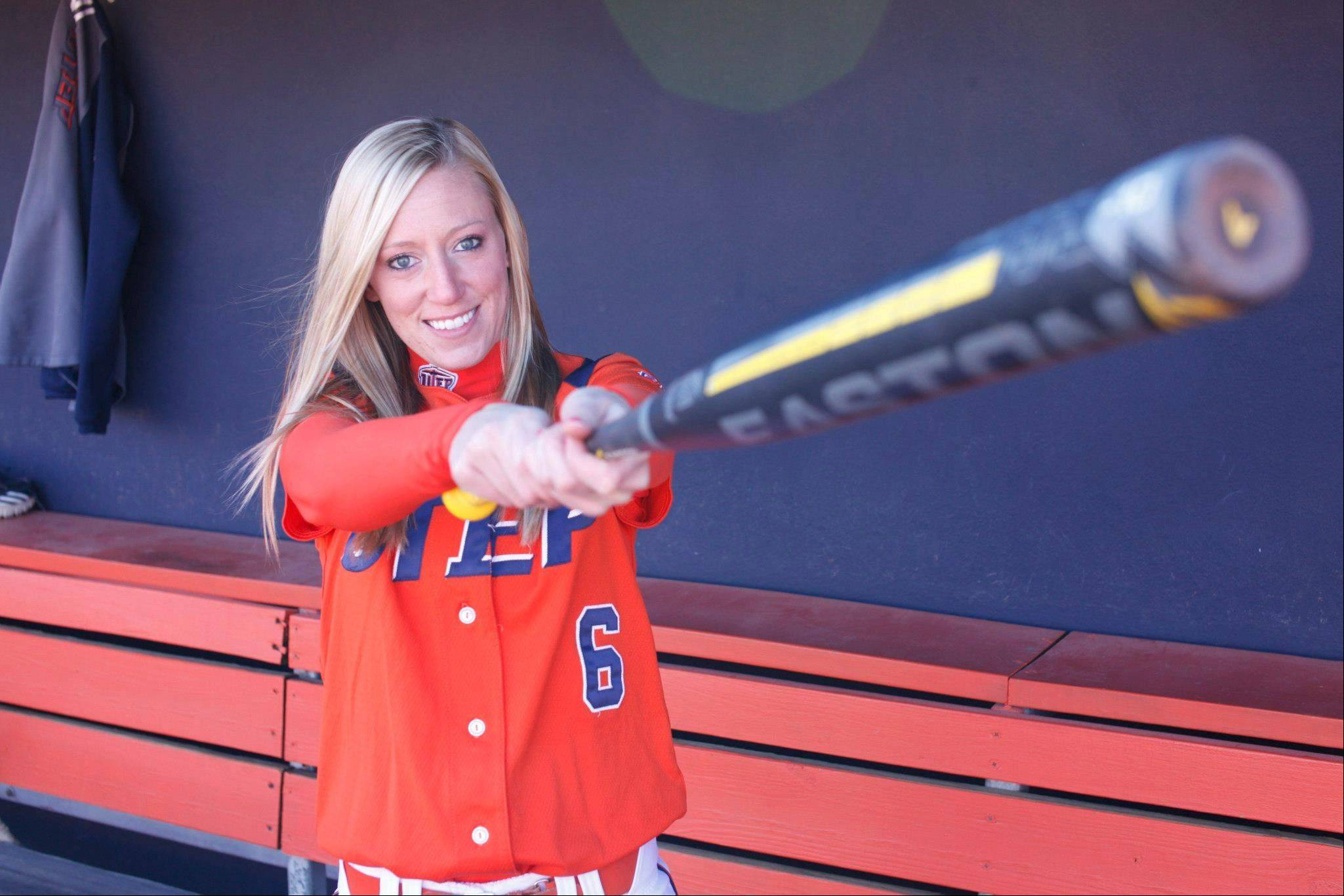 Burlington Central graduate Kayla Oranger is having a productive senior softball season at Texas-El Paso.