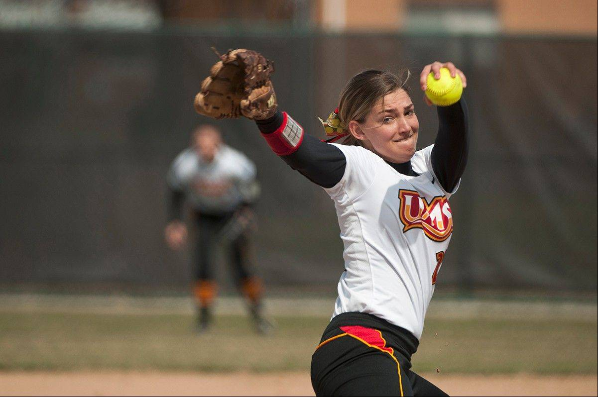 Elgin graduate Hannah Perryman is having a strong freshman season for the University of Missouri-St. Louis.