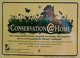 Conservation @ Home sign