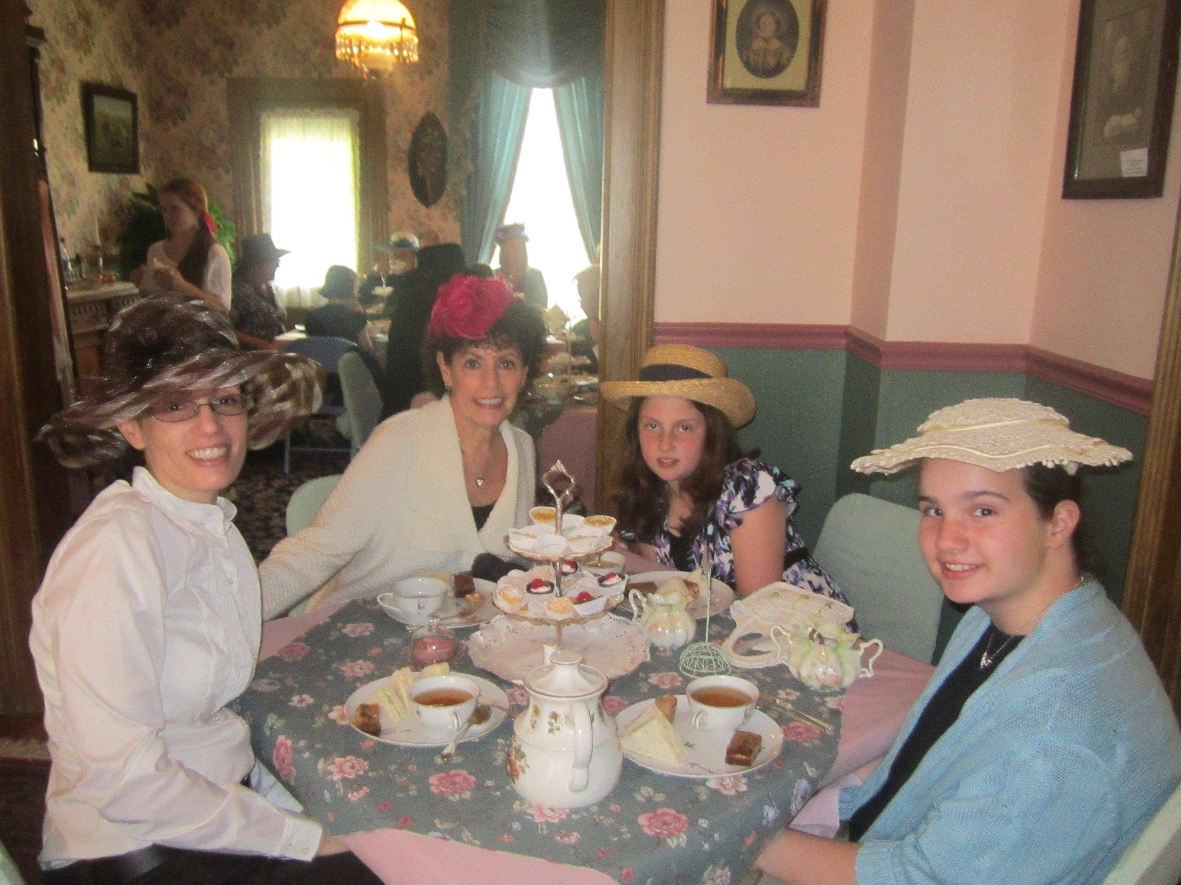 In the Victorian spirit, friends enjoy last year's tea at Clayson House in Palatine. This year's 19th annual event will feature a program on Victorian collections.