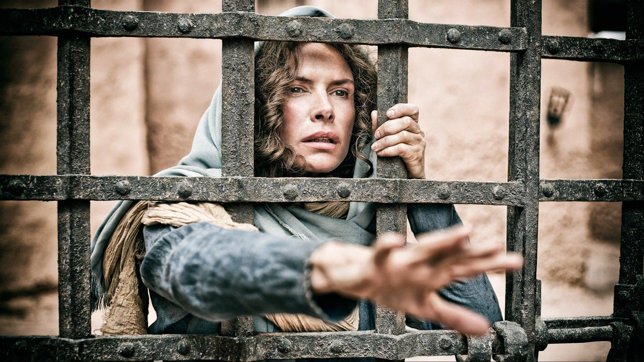 "Roma Downey plays Mary in the History Channel's miniseries ""The Bible."""