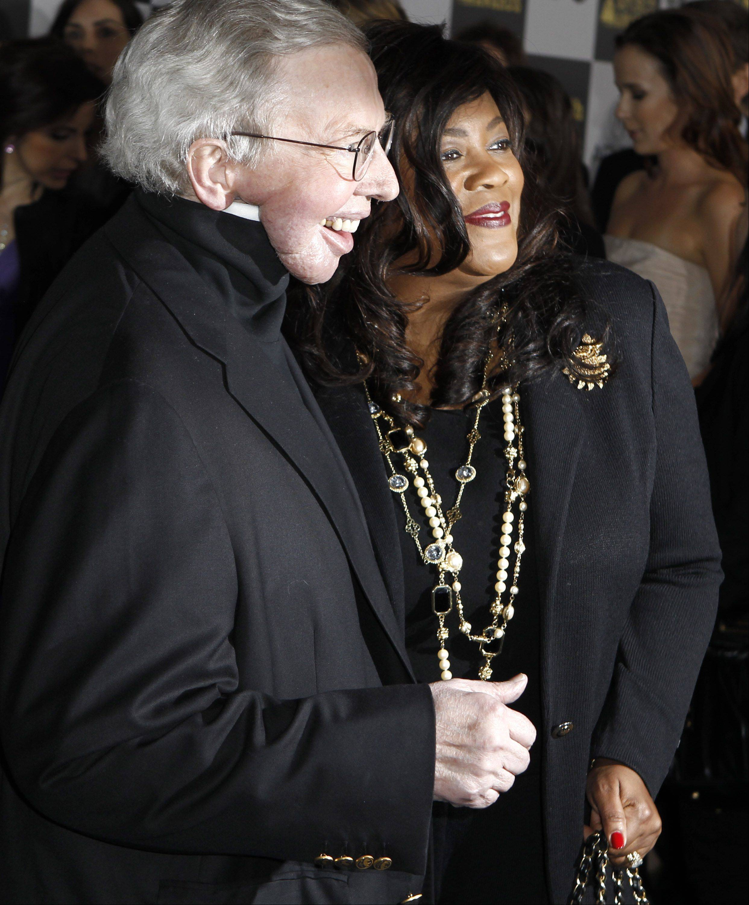 Roger Ebert, left, and wife Chaz Ebert arrive at the Independent Spirit Awards on Friday, March 5, 2010, in Los Angeles.