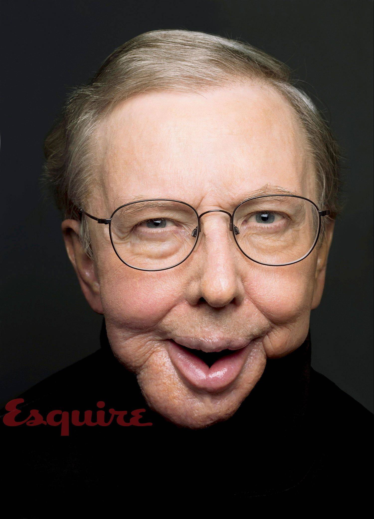 In this undated image released by Esquire magazine, film critic Roger Ebert is shown in the March 2010 issue of Esquire magazine, available on newsstands nationwide on Feb. 16.