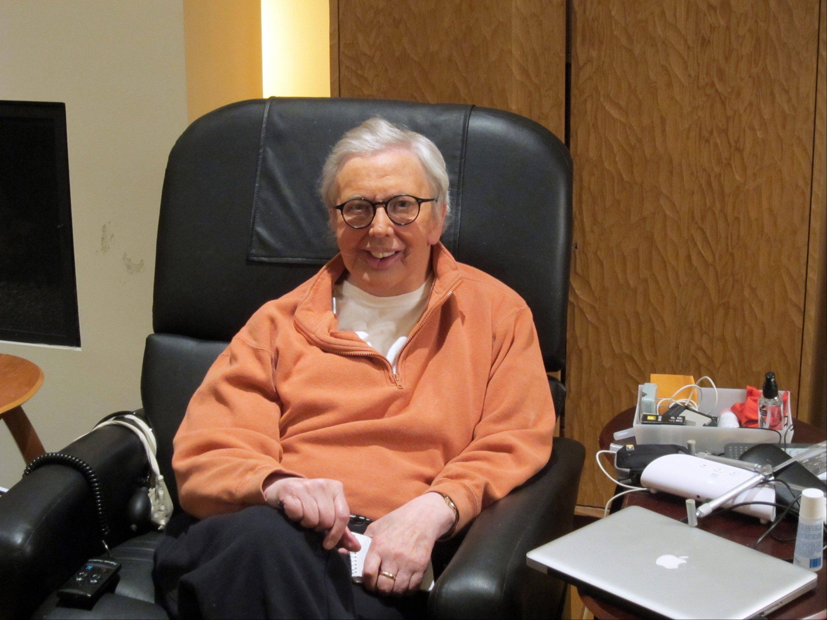 "This January, 2011, photo provided by Roger Ebert shows the famous film critic wearing a silicone prosthesis over his lower face and neck. Ebert said in his Jan. 19 blog that he will wear the prosthesis for the ""Roger's Office"" segment of the new television show ""Ebert Presents at the Movies,"" which debuts Friday, Jan. 21, 2011. Ebert, unable to speak since ."