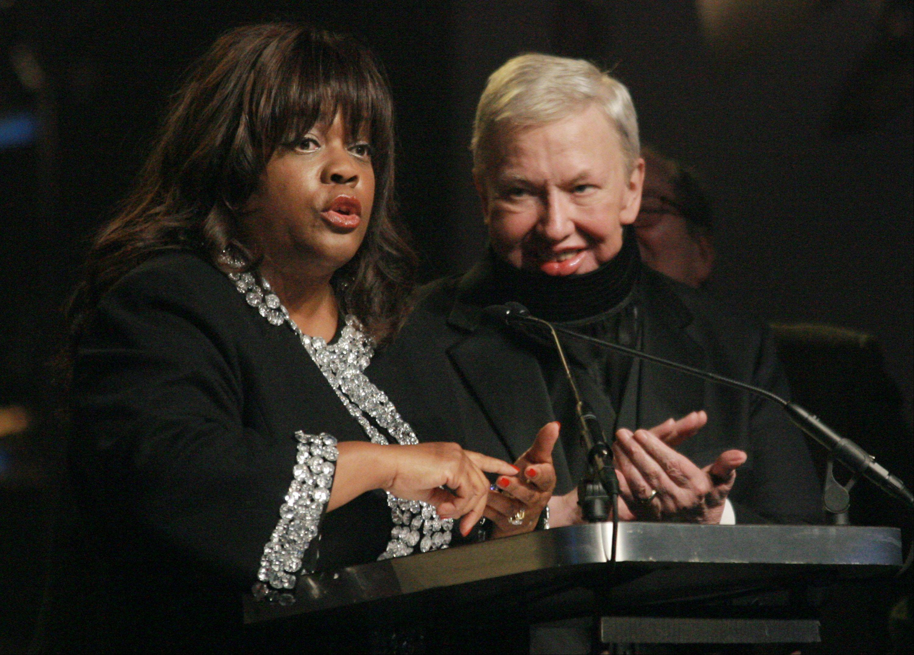 Chaz Hammelsmith Ebert speaks for her husband film critic Roger Ebert who was honored at the 17th Annual Gotham Awards at Steiner Studios, Tuesday, Nov. 27, 2007 in New York.