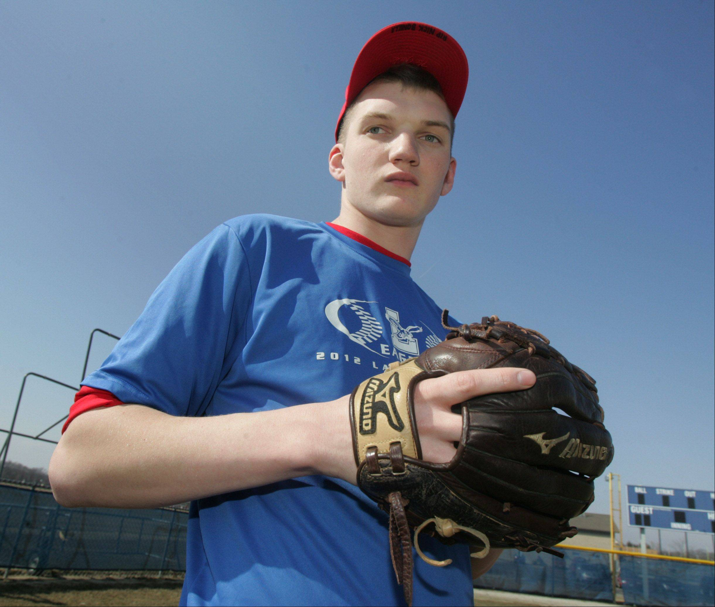 Lakes' Justin Demand is a 6-foot-5 left-hander who is trying to fully tap his considerable pitching potential.