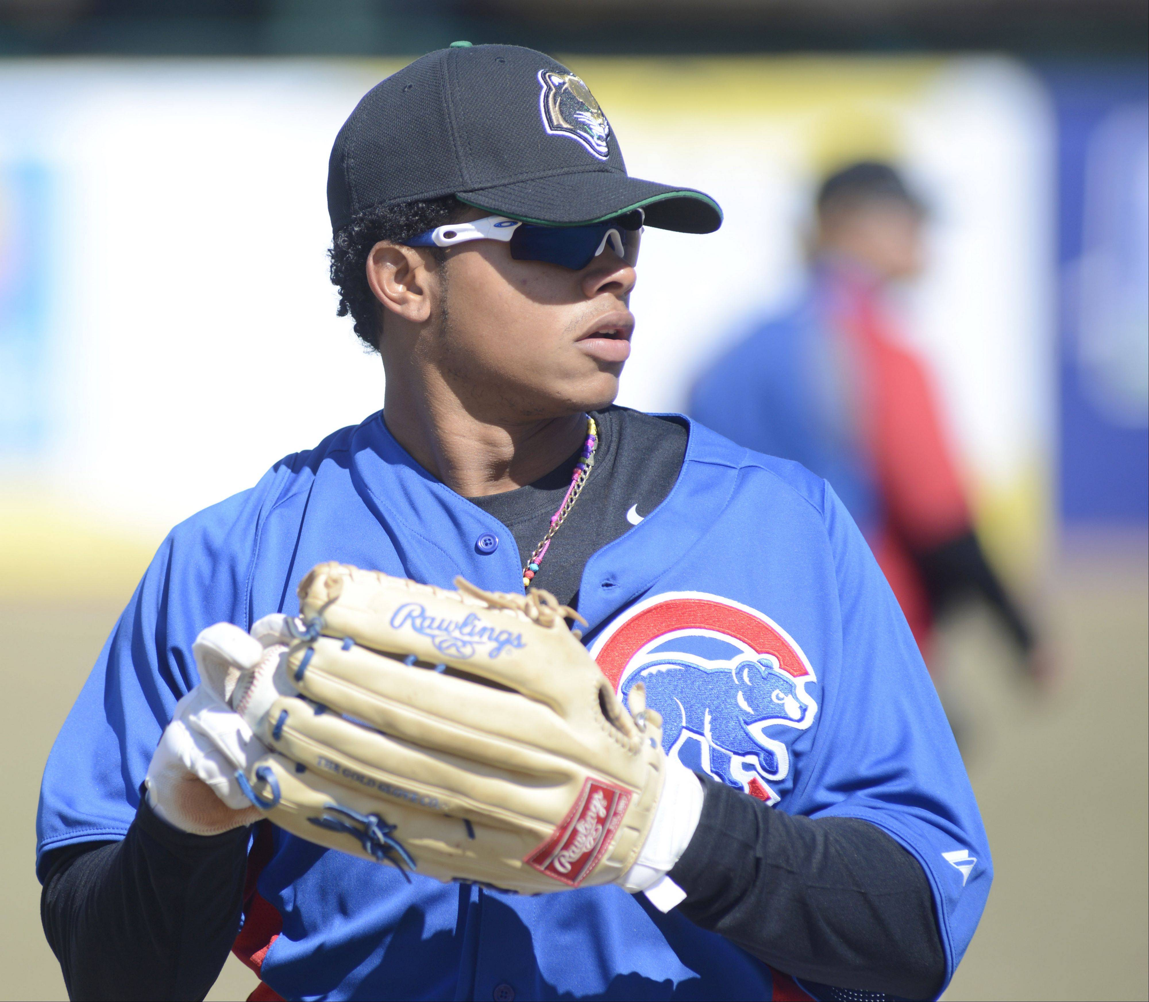 The Kane County Cougars' Oliver Zapata, a speedy outfielder, is part of the 26-man roster for the Geneva club.