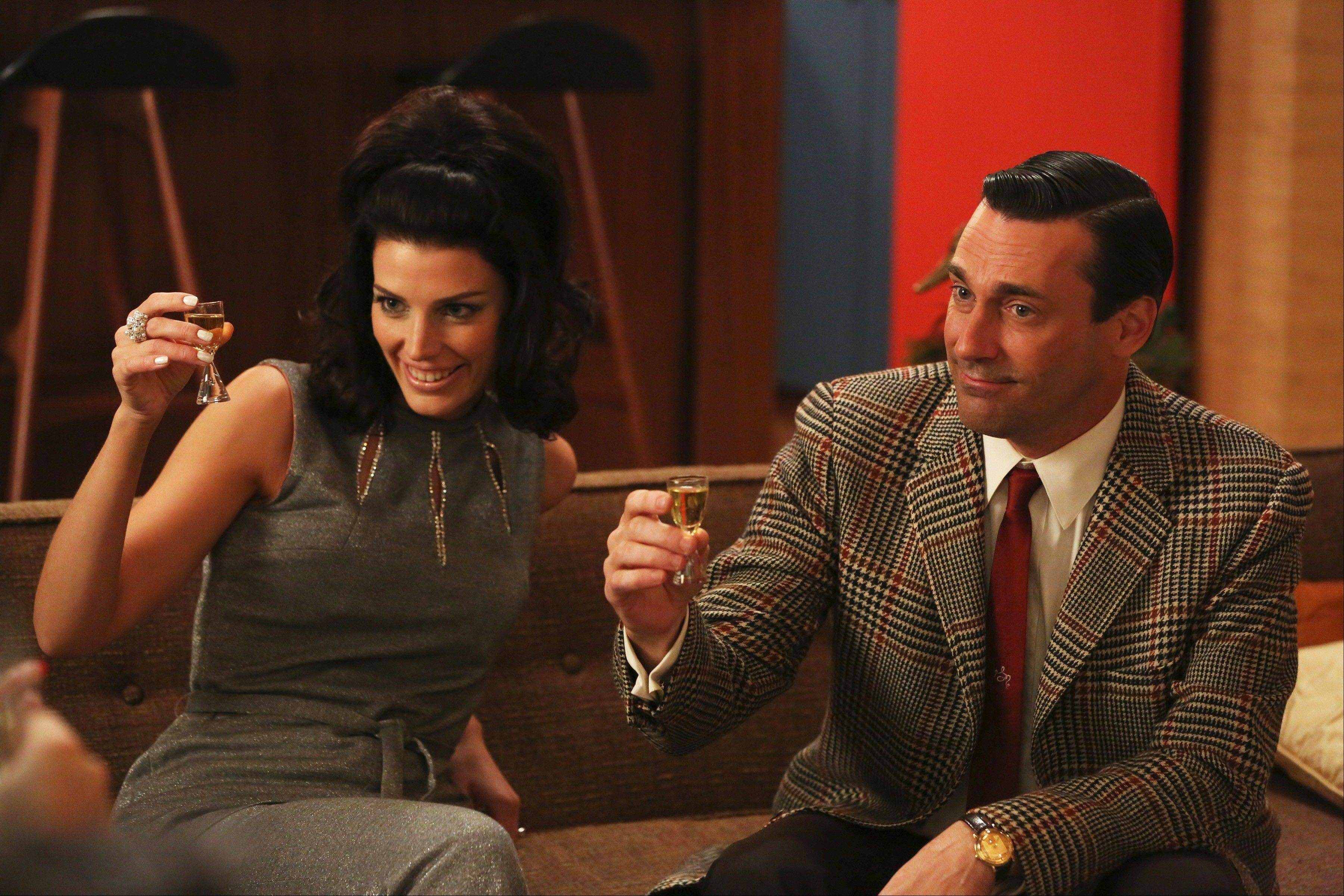 "Megan (Jessica Pare) and Don Draper (Jon Hamm) face new challenges in their marriage when AMC's critically acclaimed ""Mad Men"" returns Sunday, April 7."