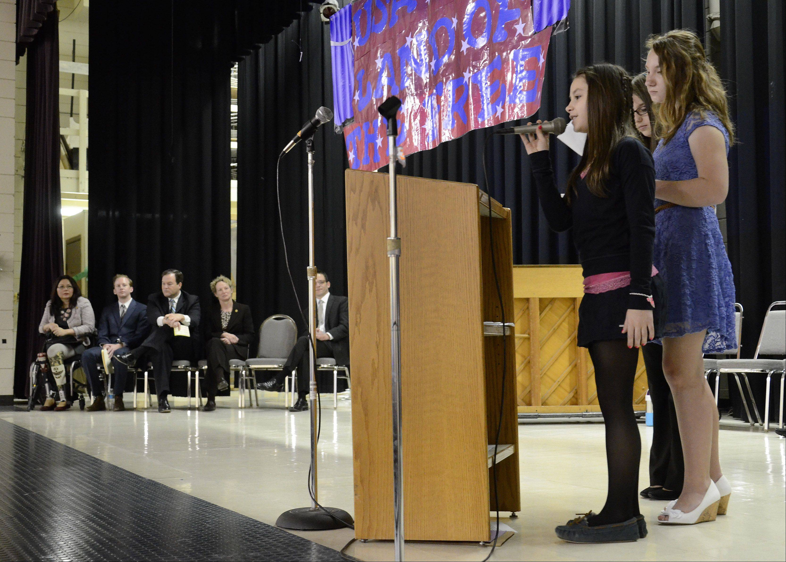 Seventh-grader Iryna Kidyk talks about her family's immigration from Ukraine.