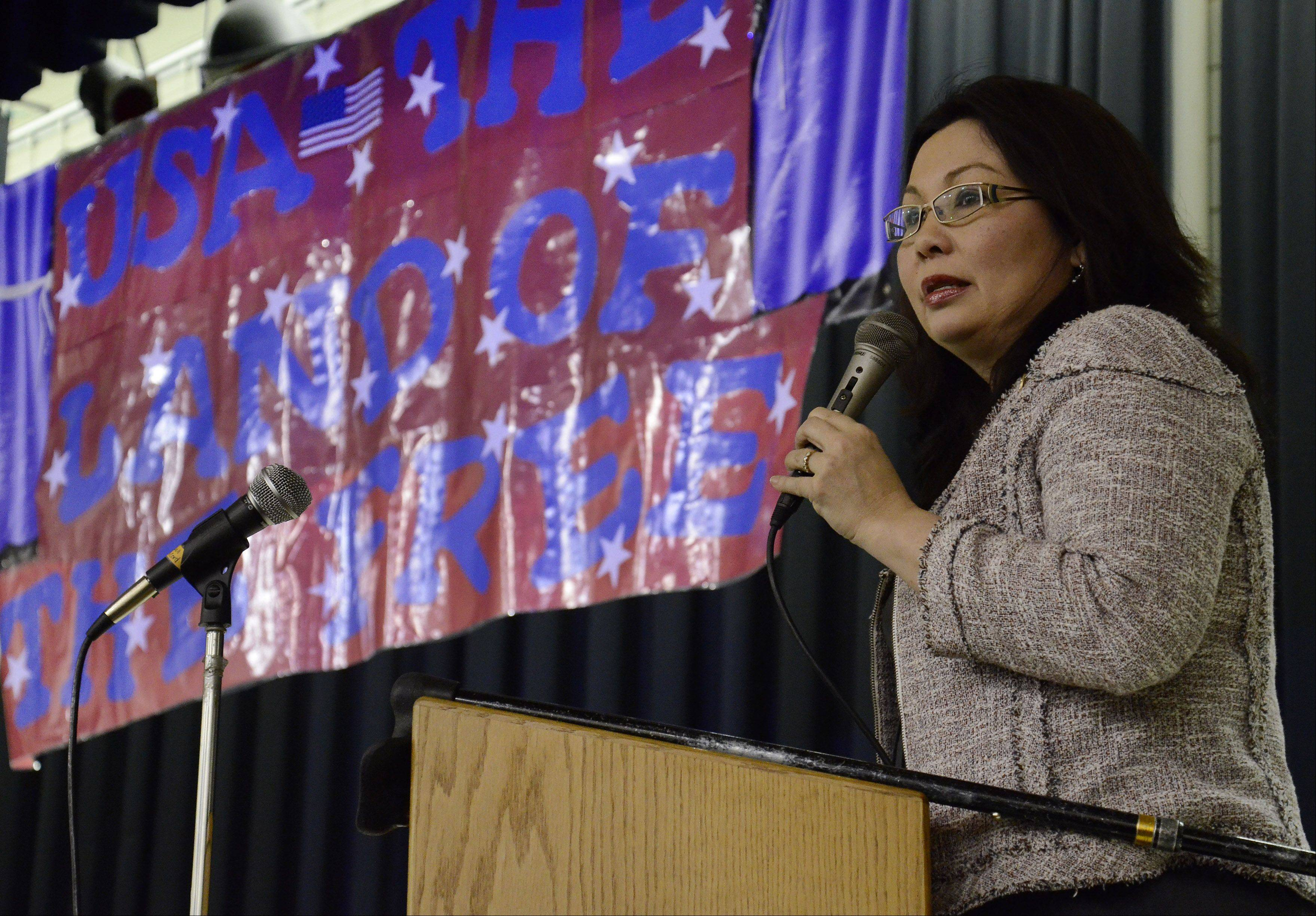 Congresswoman Tammy Duckworth promises to take their ideas back with her to Washington.