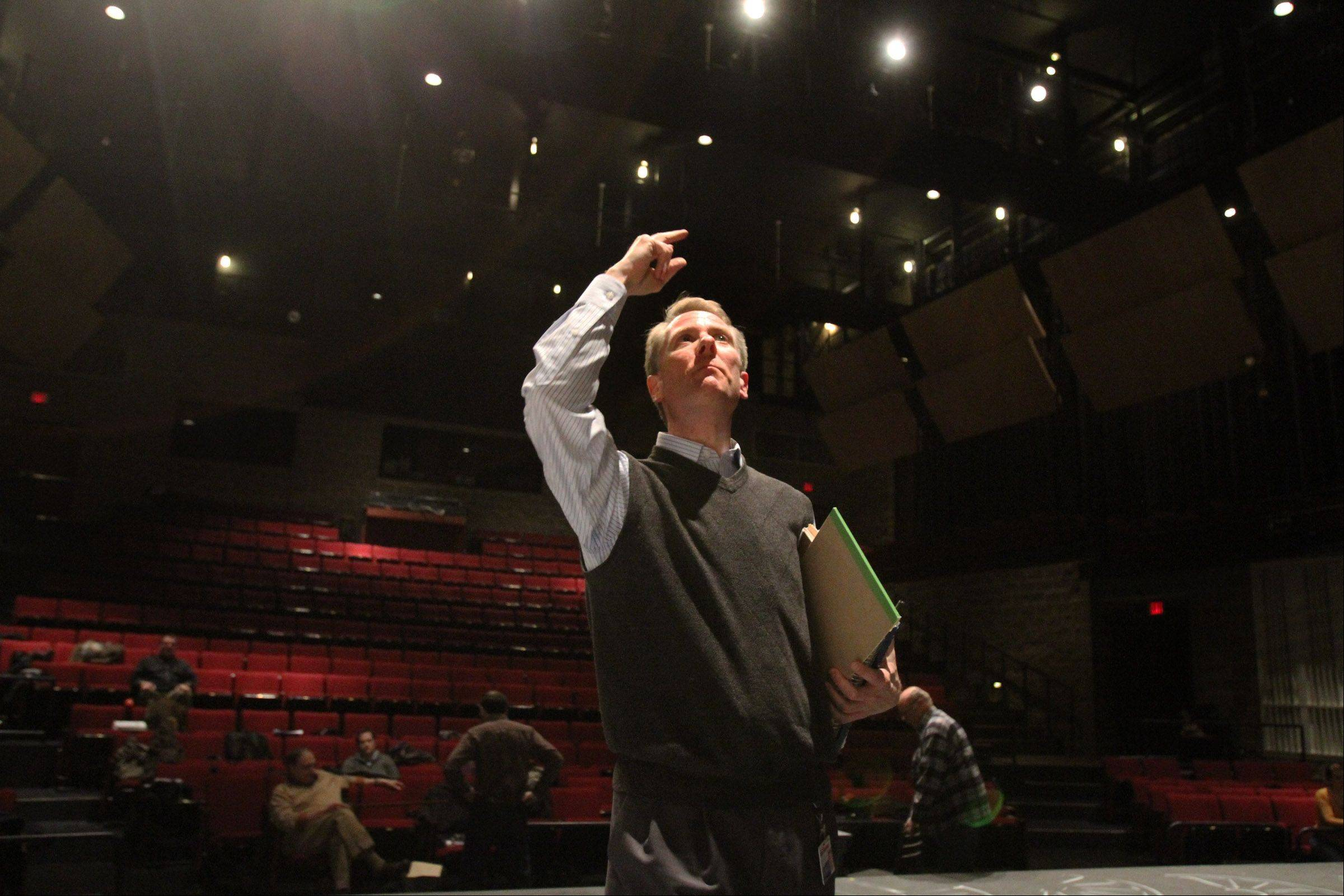 "Kevin Long directs Harper College Ensemble Theatre Company's musical ""Parade"" in the Performing Arts Center at Harper College in Palatine."