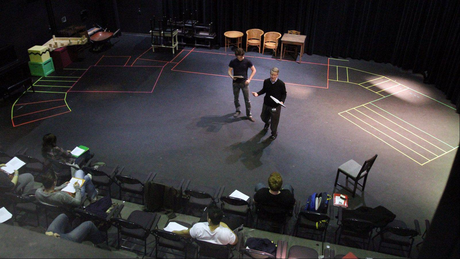 Kevin Long teaches Acting II in the Black Box Theatre at Harper College.