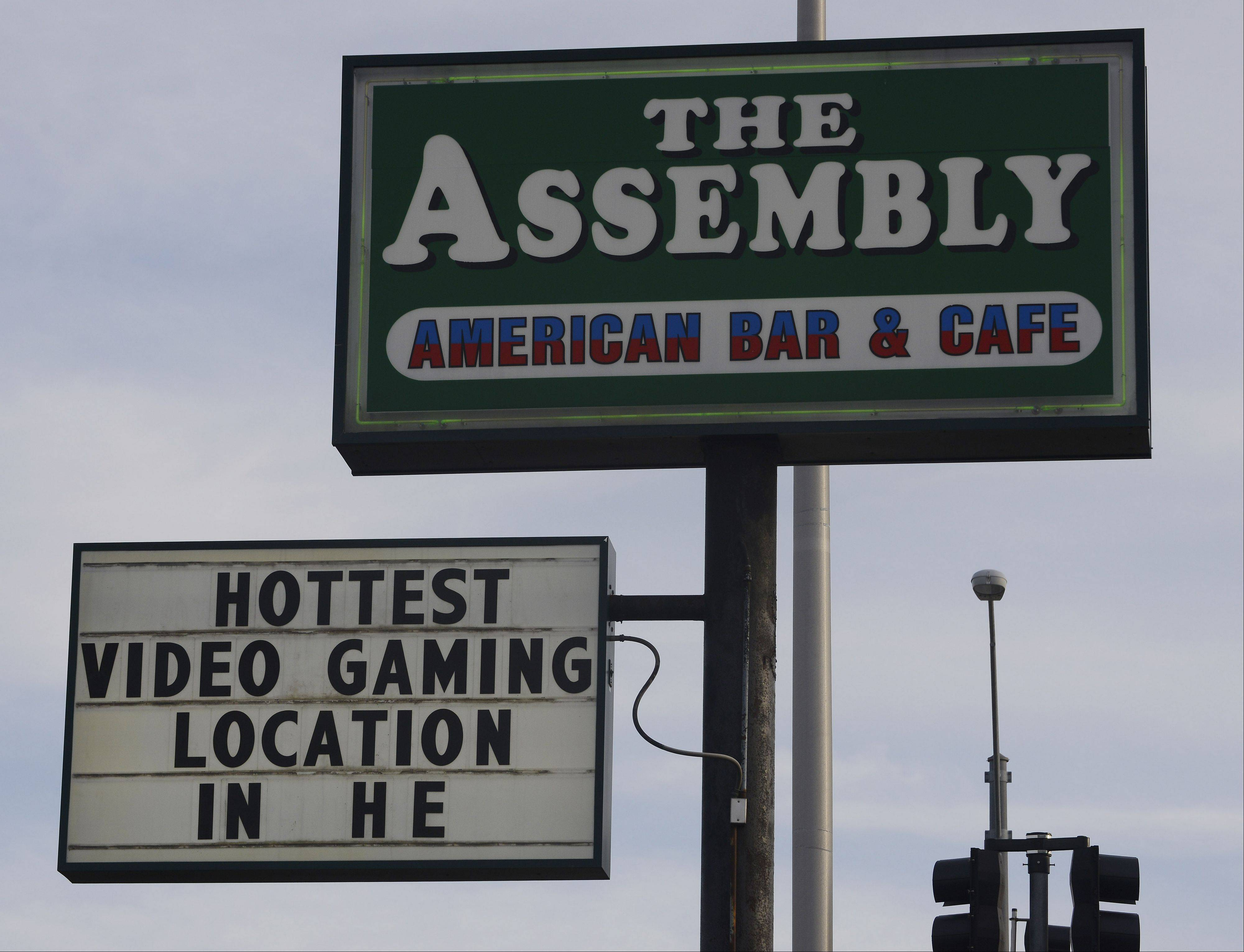 There's sometimes a line to play popular video gambling machines at The Assembly American Bar and Caf� in Hoffman Estates.
