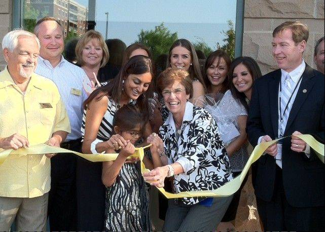 Arlene Mulder at the opening of The Heights Dental Gallery, 121 W. Wing St., in 2012.