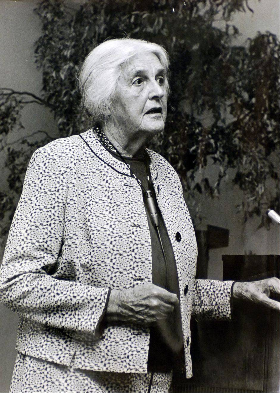 May Watts, who gave life to the Illinois Prairie Path, lived in Naperville for 35 years and was a naturalist at the Morton Arboretum.