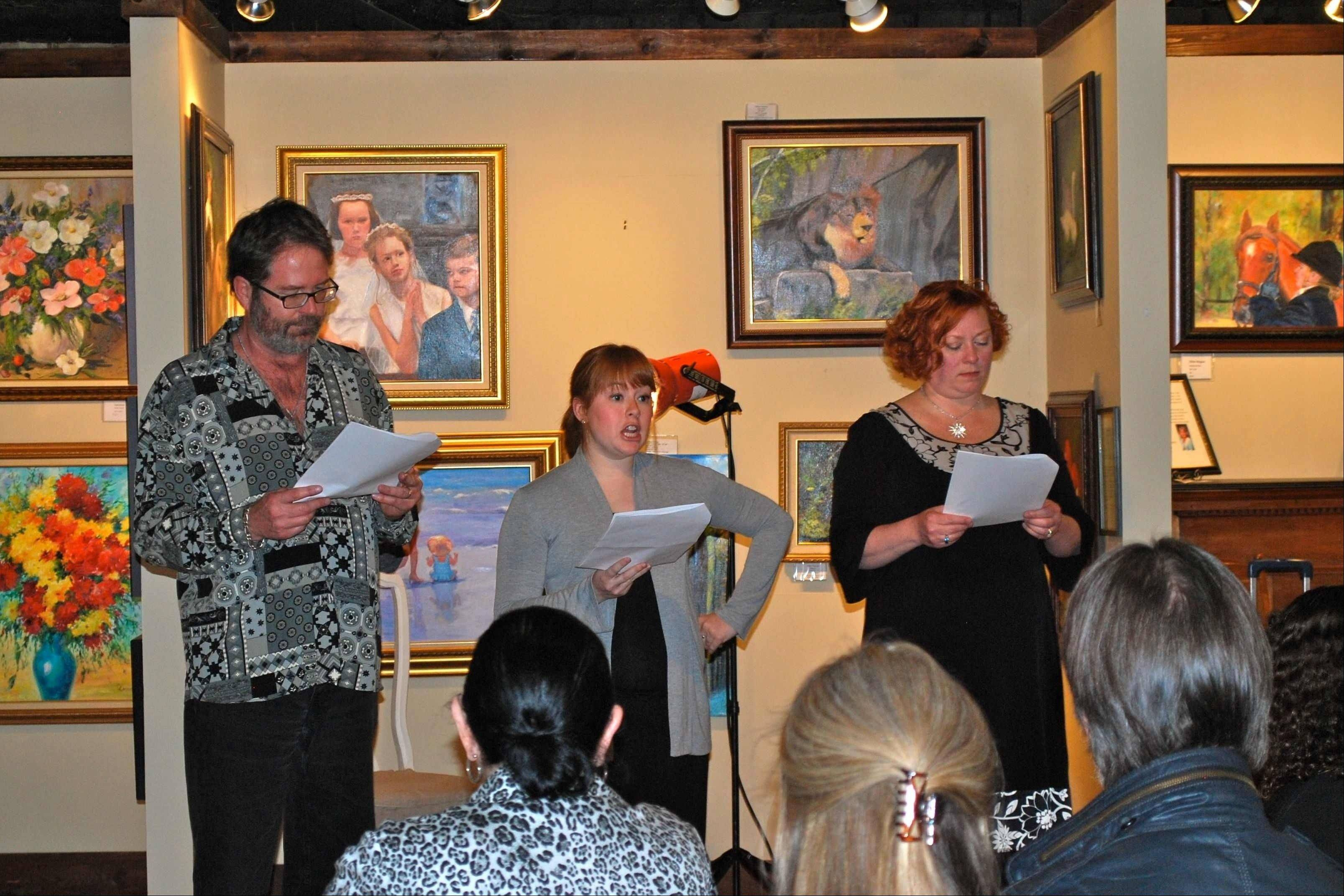 Local actors perform at a previous Third Friday � in the Gallery.