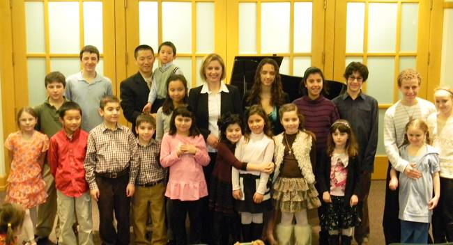 Group of Rhythm & Beyond students with Larisa Kitaychik