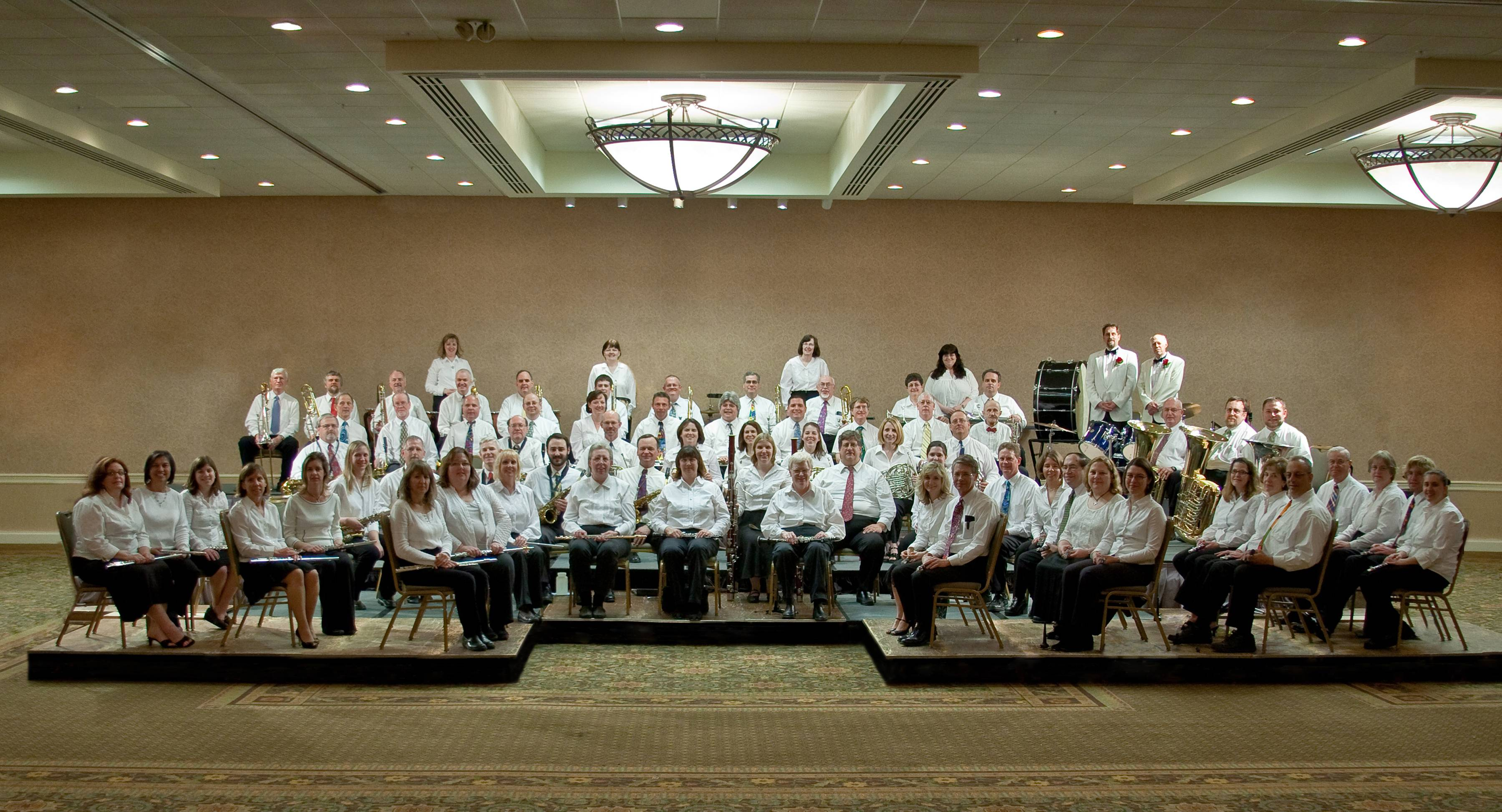 The 85 piece Crystal Lake Community Band