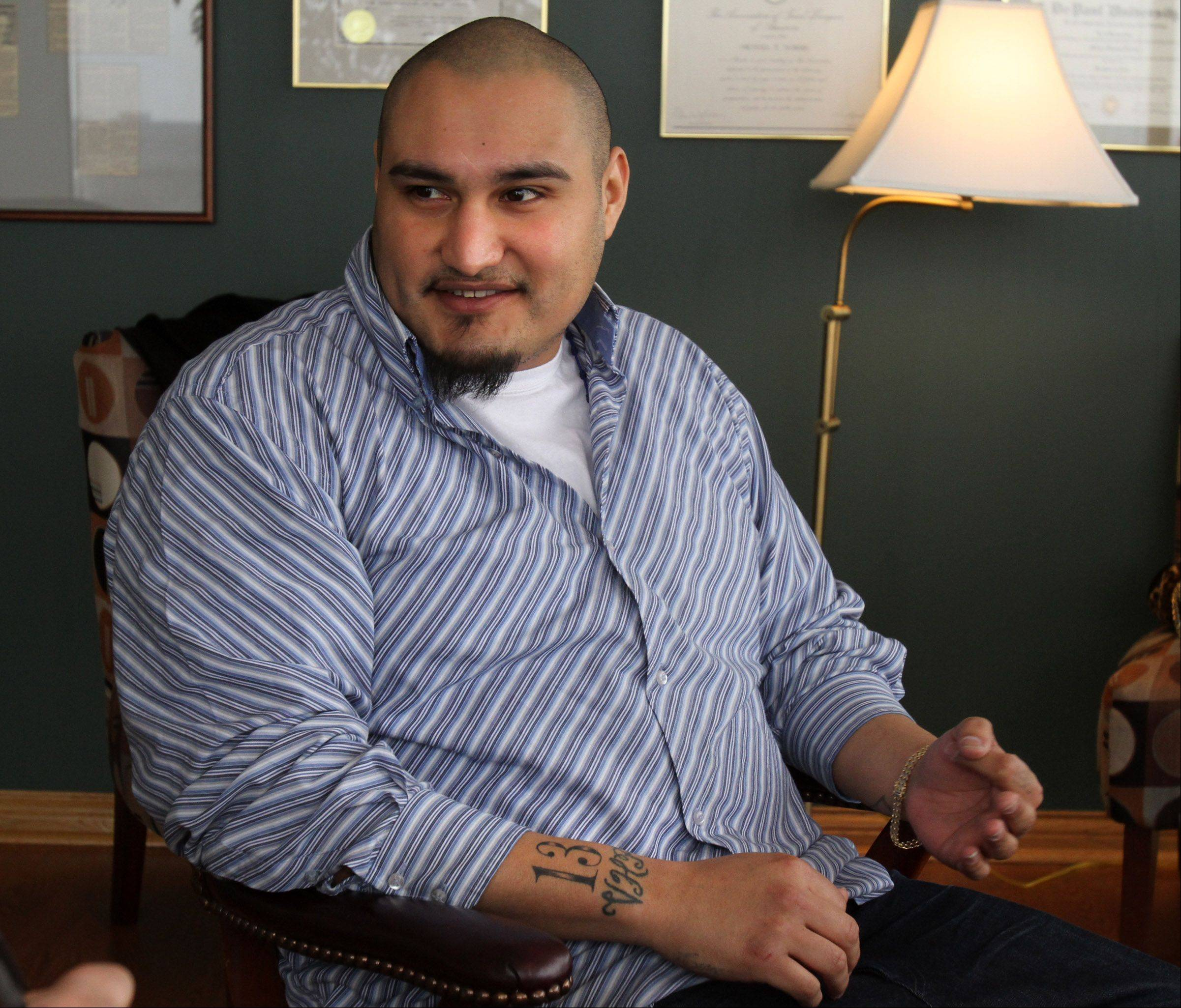 Victor Aguilar-Abazan, 24, says he�s grateful for a second chance after drug charges against him were dismissed in the wake of the arrests of three former Schaumburg undercover officers.