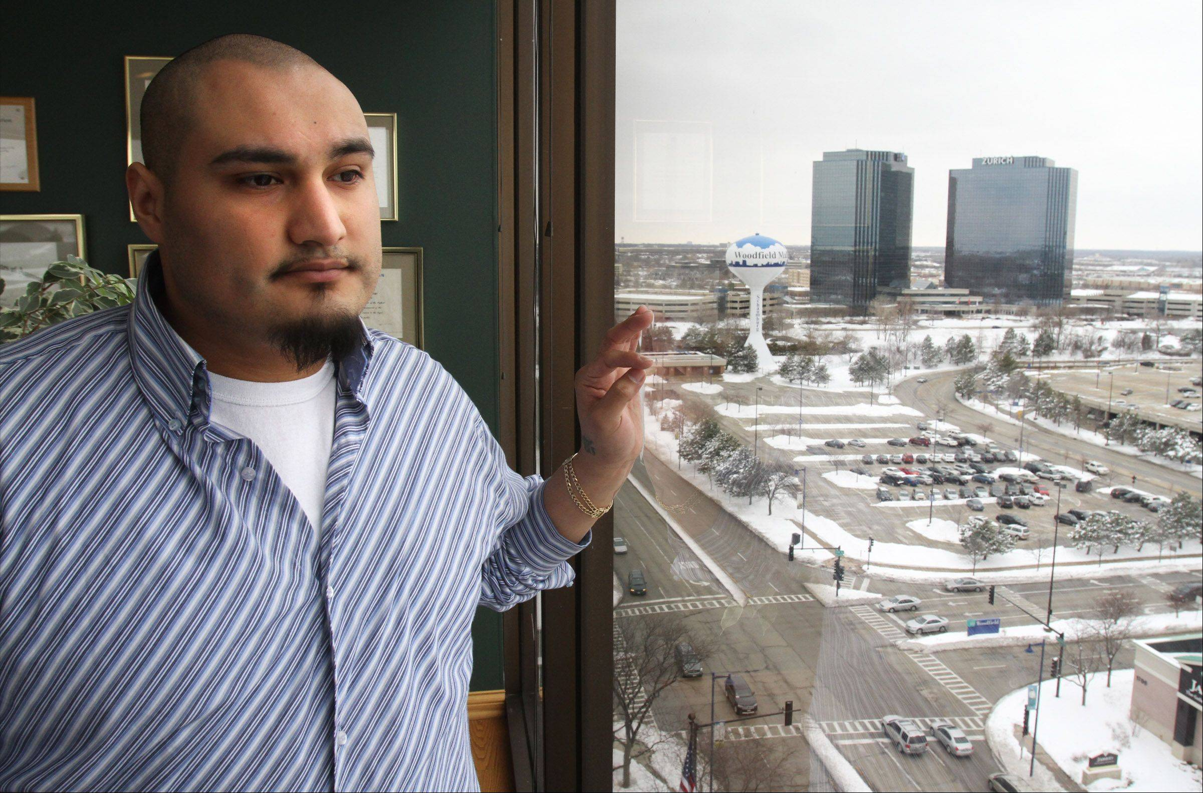 Victor Aguilar-Abazan, 24, says he's grateful for a second chance after drug charges against him were dismissed in the wake of the arrests of three former Schaumburg undercover officers.