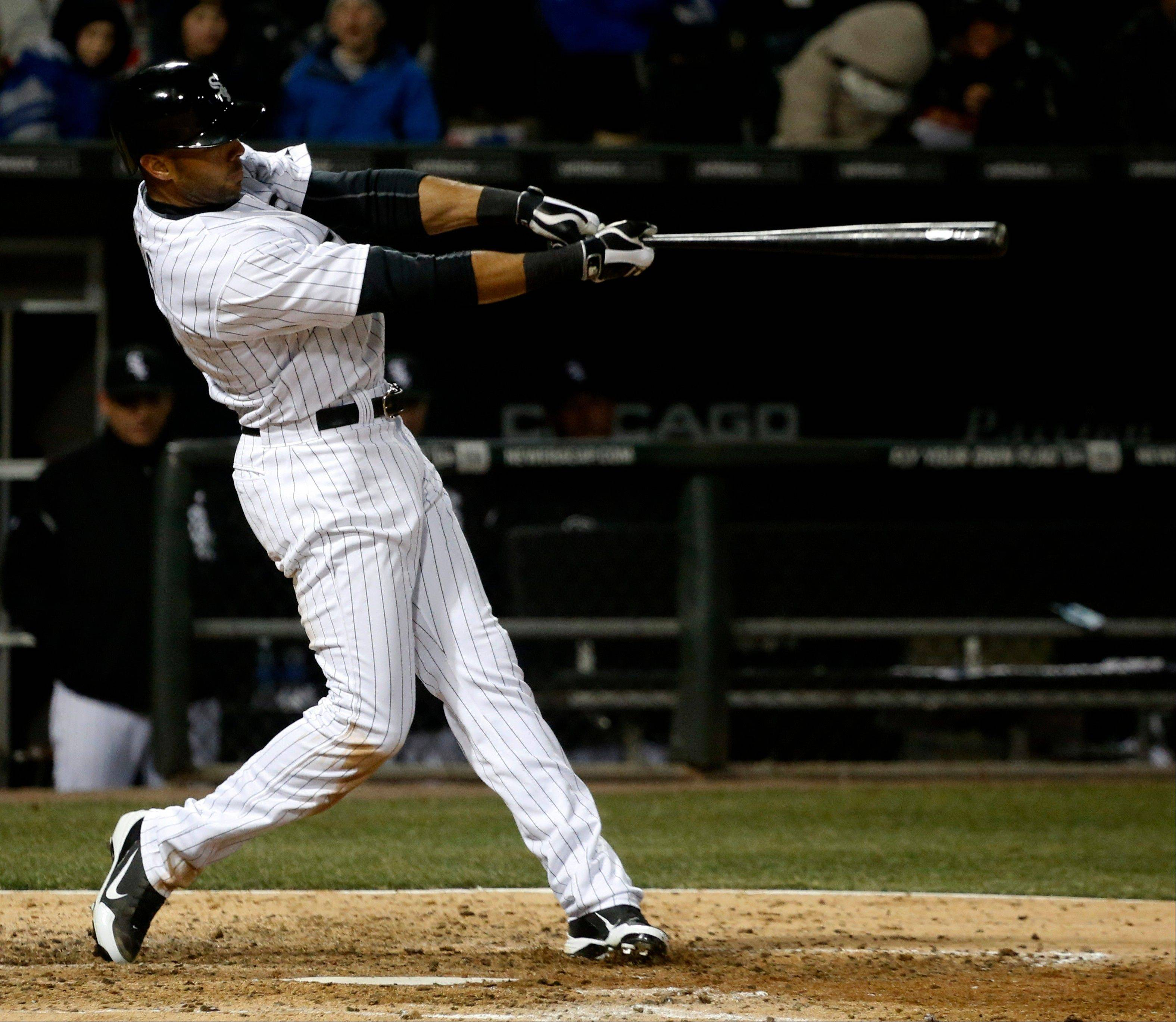 Alex Rios has hit a home run in three straight games for the White Sox.