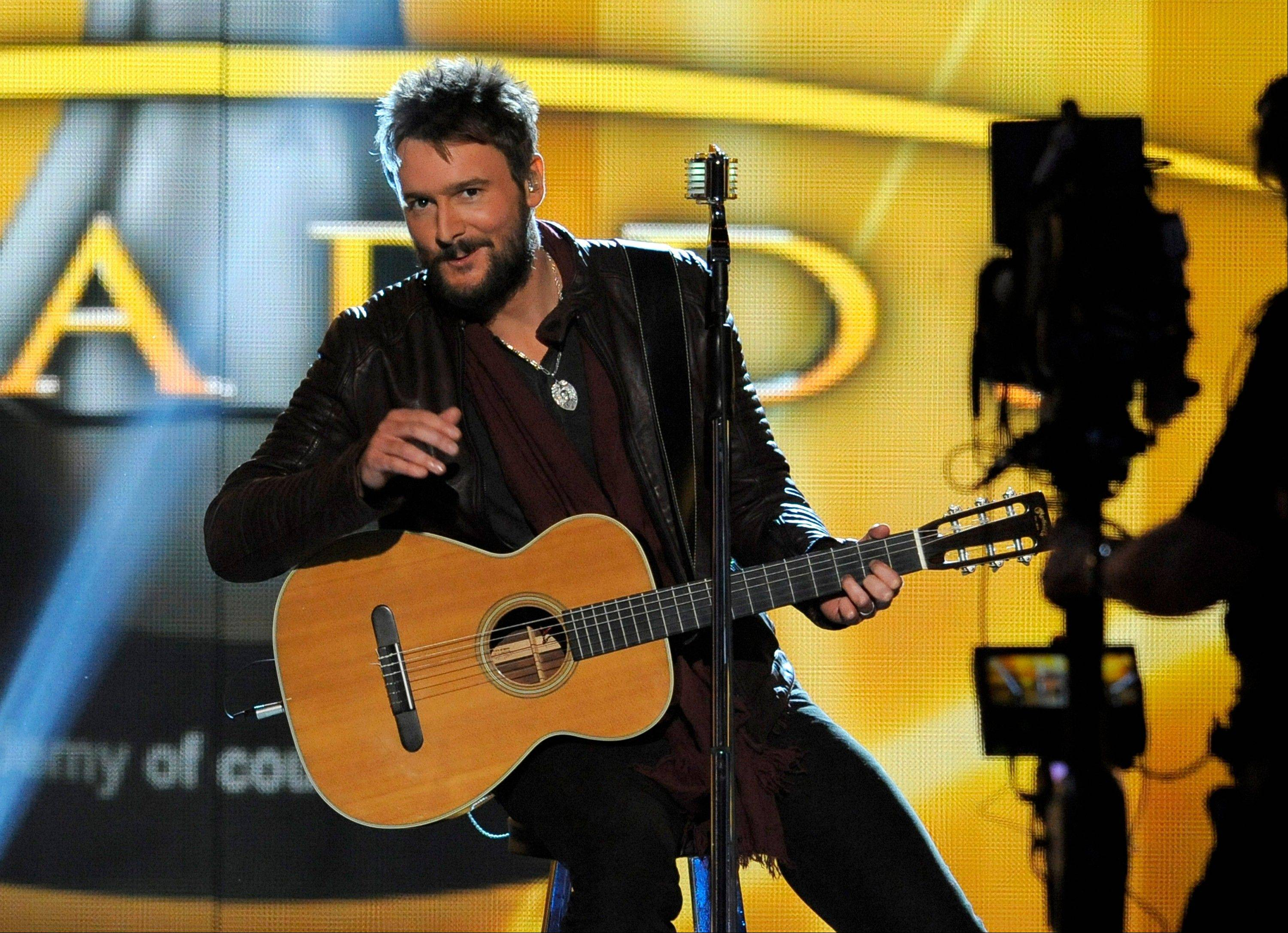 Singer Eric Church performs at the 48th Annual Academy of Country Music Awards at the MGM Grand Garden Arena in Las Vegas on Sunday, April 7, 2013.