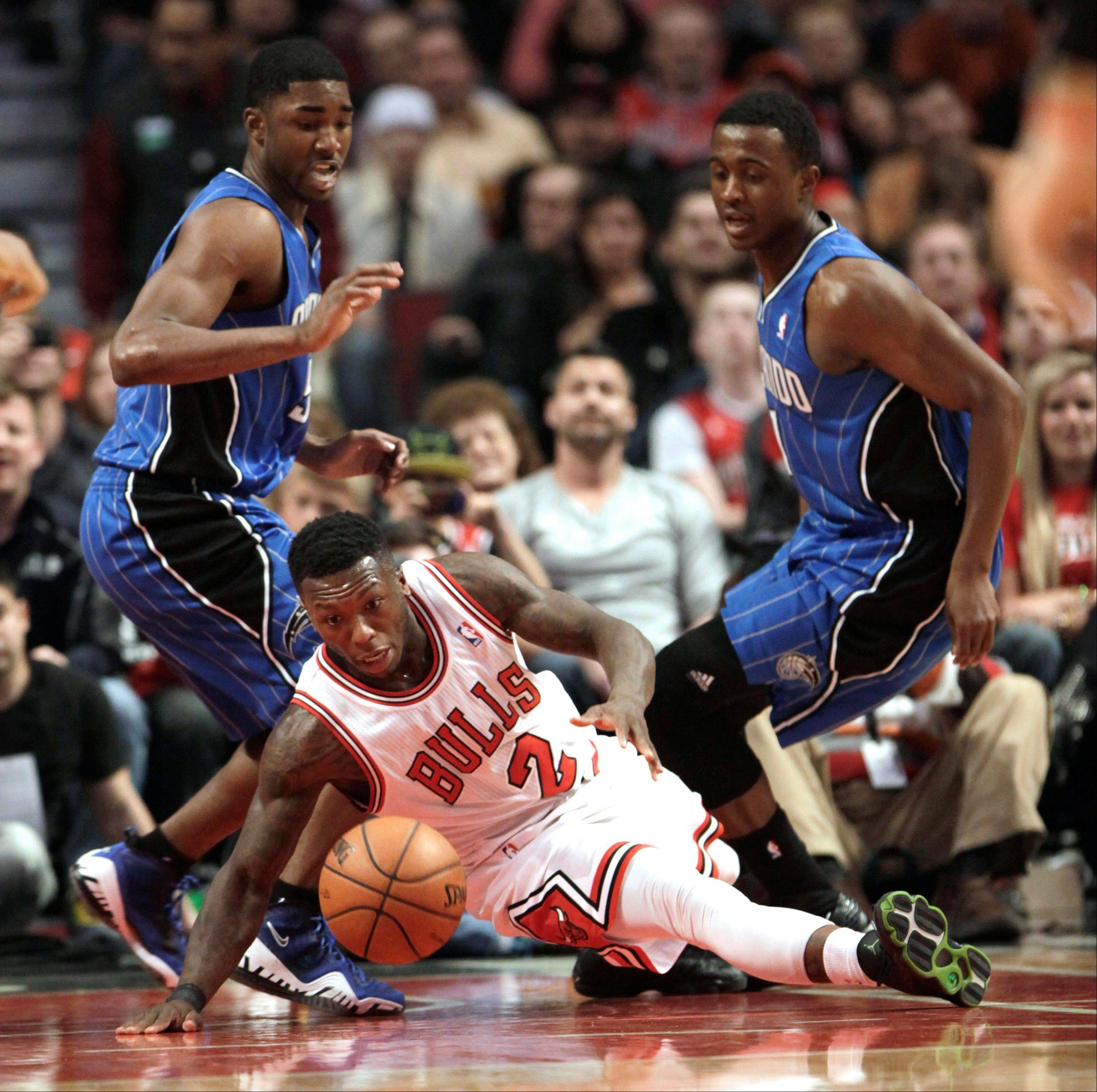 Due to injuries, Nate Robinson started Sunday�s game against Detroit. Bulls coach Tom Thibodeau said Monday, however, he thought his second unit missed Robinson�s energy and he may use him in a reserve role Tuesday against Toronto.
