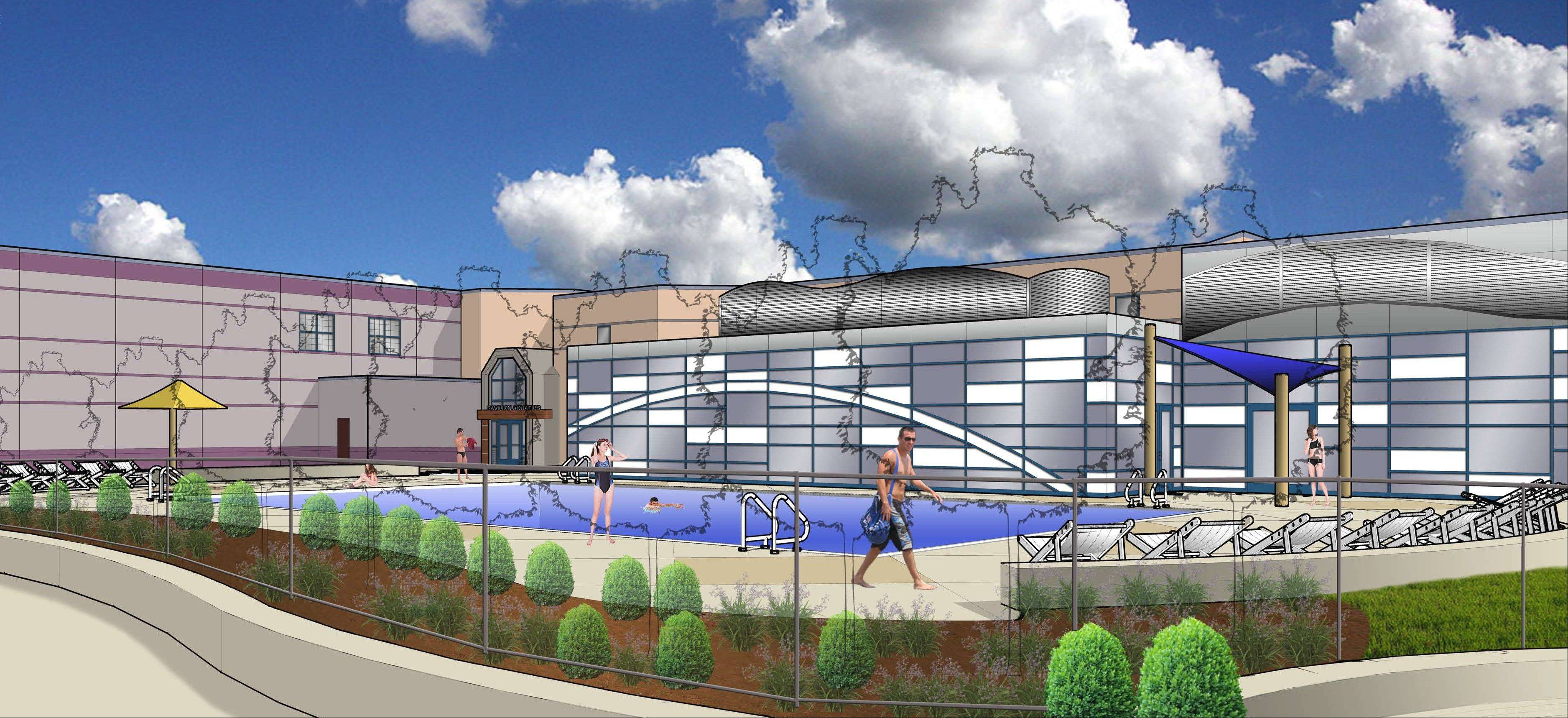 Work will begin soon on the Elk Grove Park District's planned $7 million renovation/expansion of the Pavilion Aquatic Center.