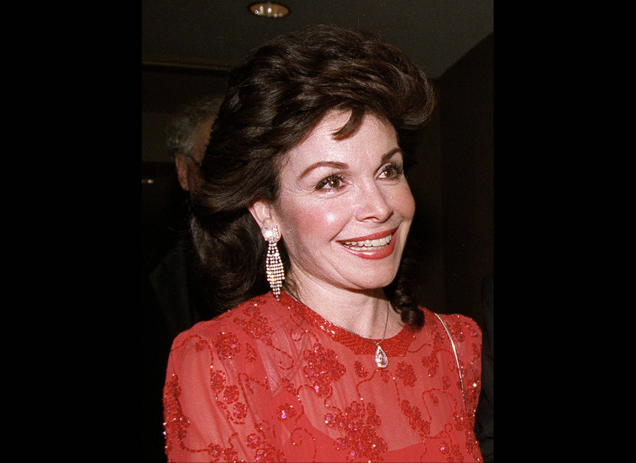 In this Oct. 20, 1990, photo, actress and former Mickey Mouse Club member Annette Funicello arrives for the 15th annual Italian American Foundation dinner in Washington.