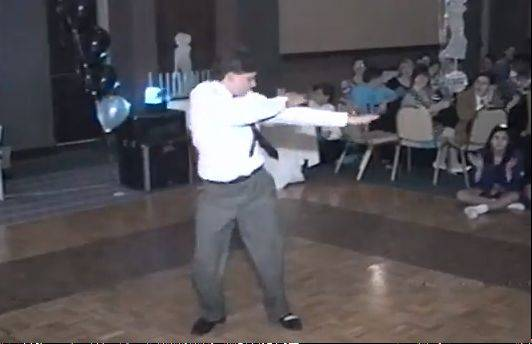 Shaun Sperling occasionally re-performs the dance he did at his 1992 bar mitzvah for charity events.