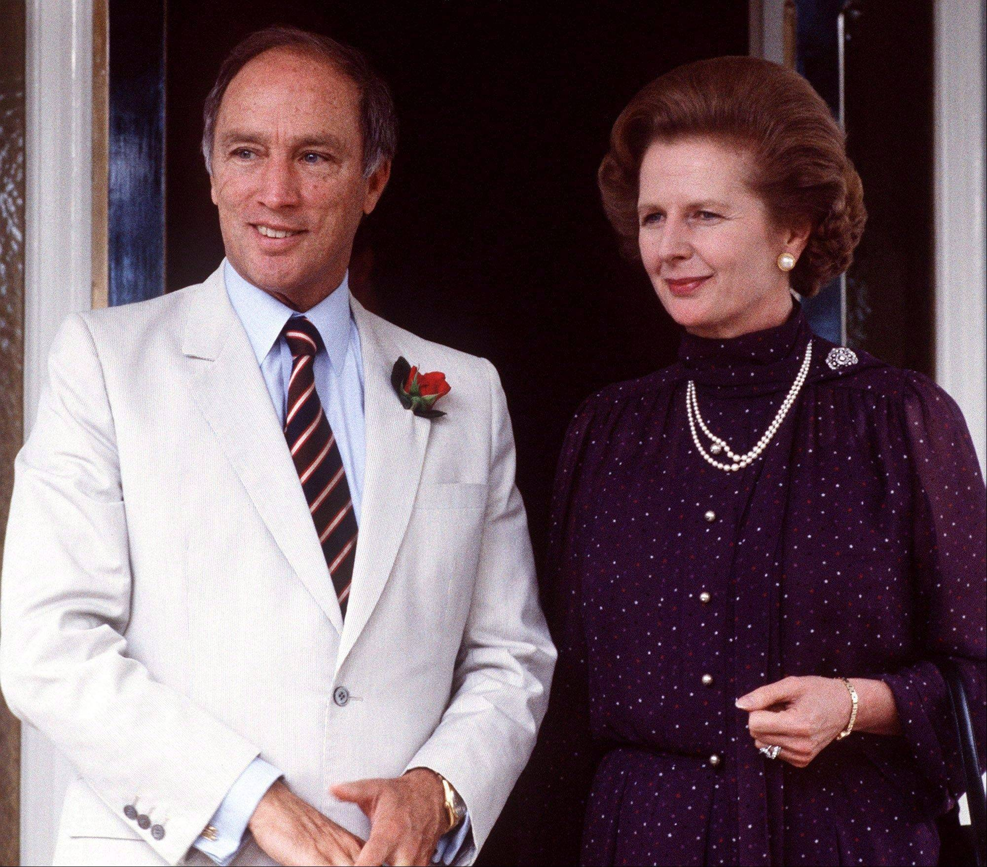In this Oct. 4, 1981 file photo, British Prime Minister Margaret Thatcher is with Canada's Prime Minister Pierre Trudeau, in Australia. Thatchers former spokesman, Tim Bell, said that the former British Prime Minister Margaret Thatcher died Monday morning, April 8, 2013, of a stroke. She was 87.