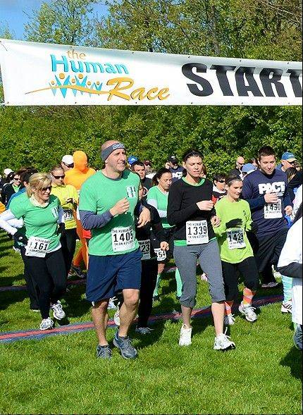 Roughly 50 nonprofit organizations serving DuPage County have signed up to be part of the Human Race. When runners and walkers register, they choose which organization they're supporting.