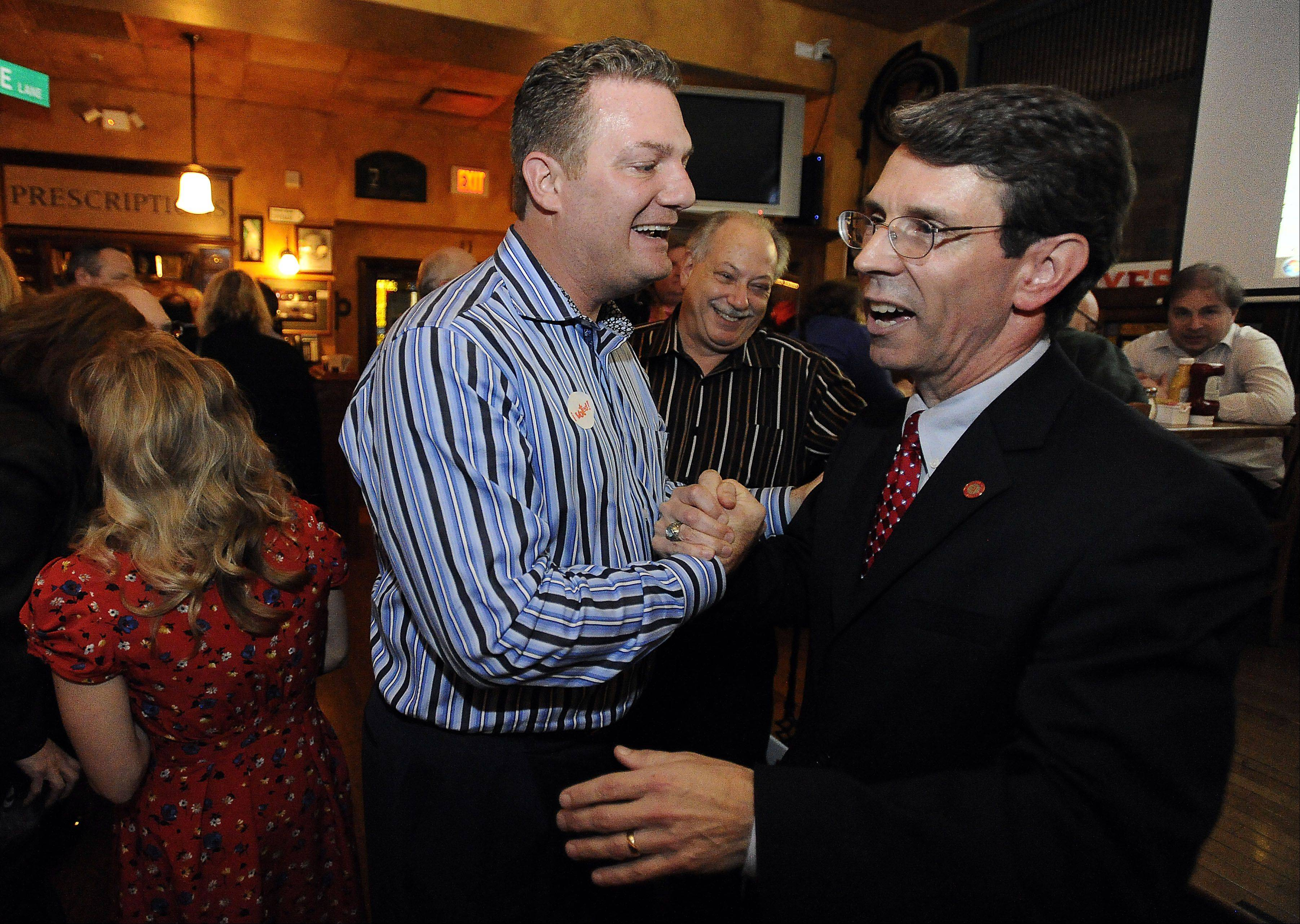 Images: Election night in Cook and Lake Counties
