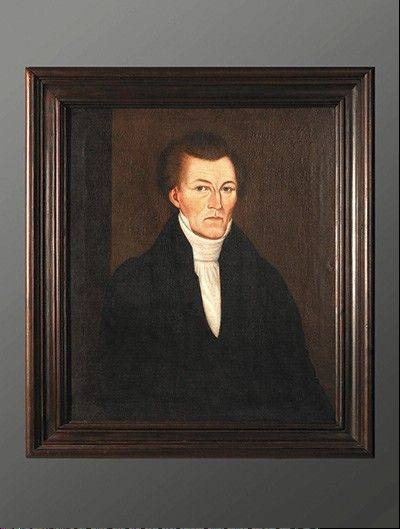 This original Sheldon Peck portrait of an unknown gentleman was likely painted about 1830 in New York. On loan from a private collector, the portrait is one of six Peck paintings included in the folk art exhibit.