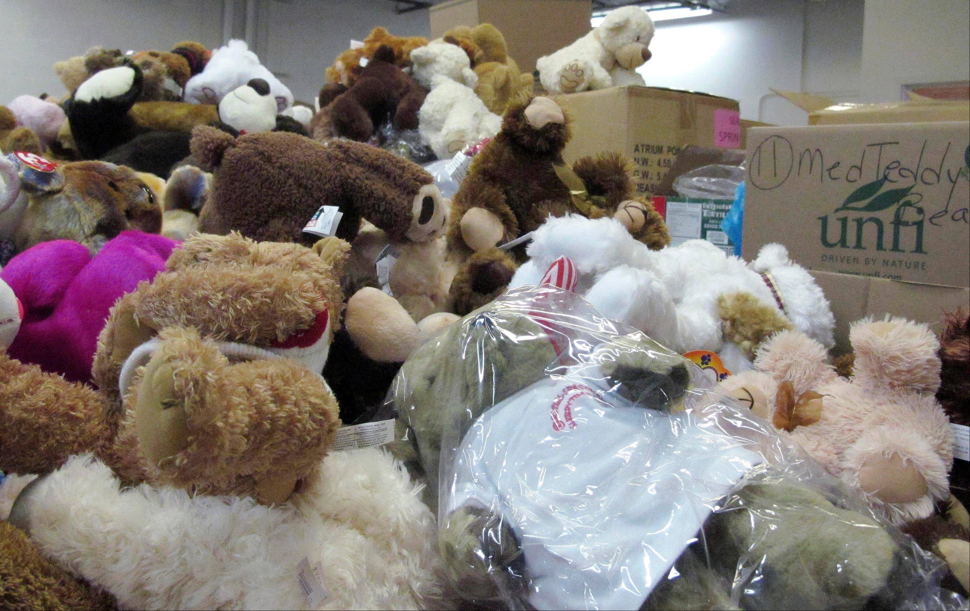 Newtown officials and families of those killed have given away 63,790 stuffed animals and thousands of other gifts that poured into the town in the weeks following the massacre. The final boxes of toys and school supplies were shipped out of the warehouse on March 29, 2013.
