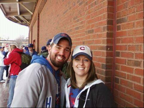Proclaiming their love for the 20th-century charms of Wrigley Field, fans Sheldon Neumann and Ashley Busker still say they'd welcome modern advances such as a giant TV screen.